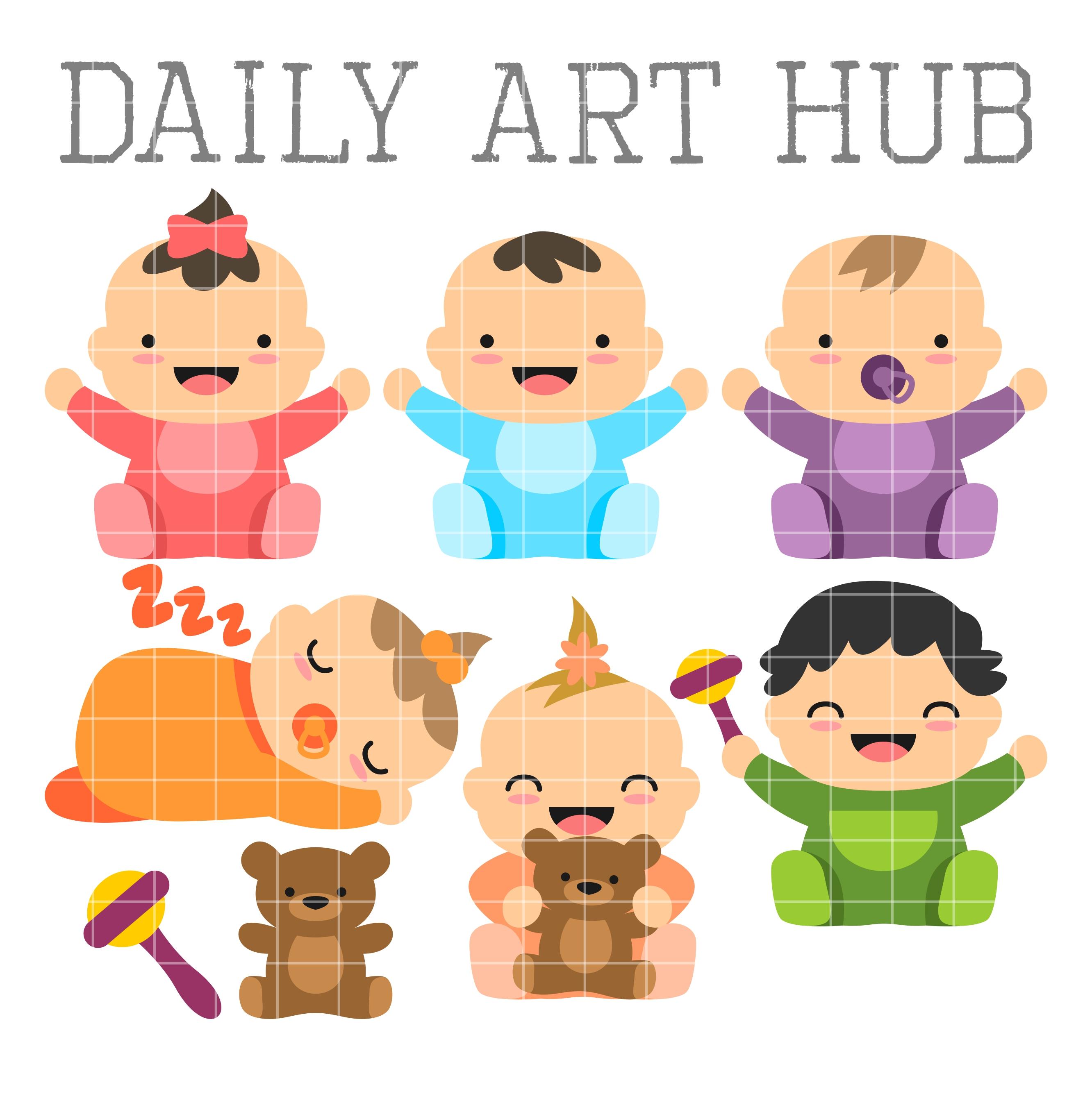 cute babies clip art set daily art hub free clip art everyday rh dailyarthub com cute baby clipart free cute baby clipart png