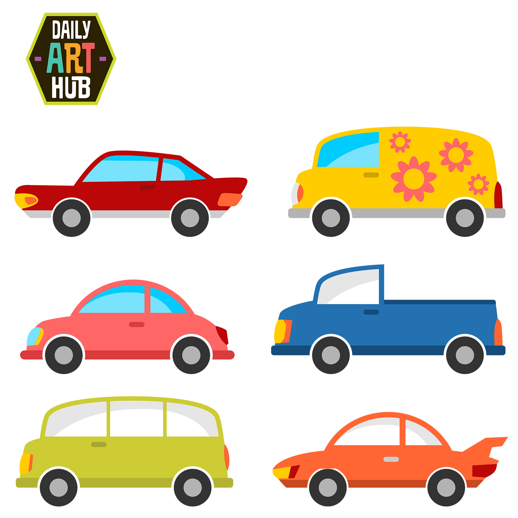 cute cars clip art set daily art hub free clip art everyday rh dailyarthub com clip art car show clip art cars trucks