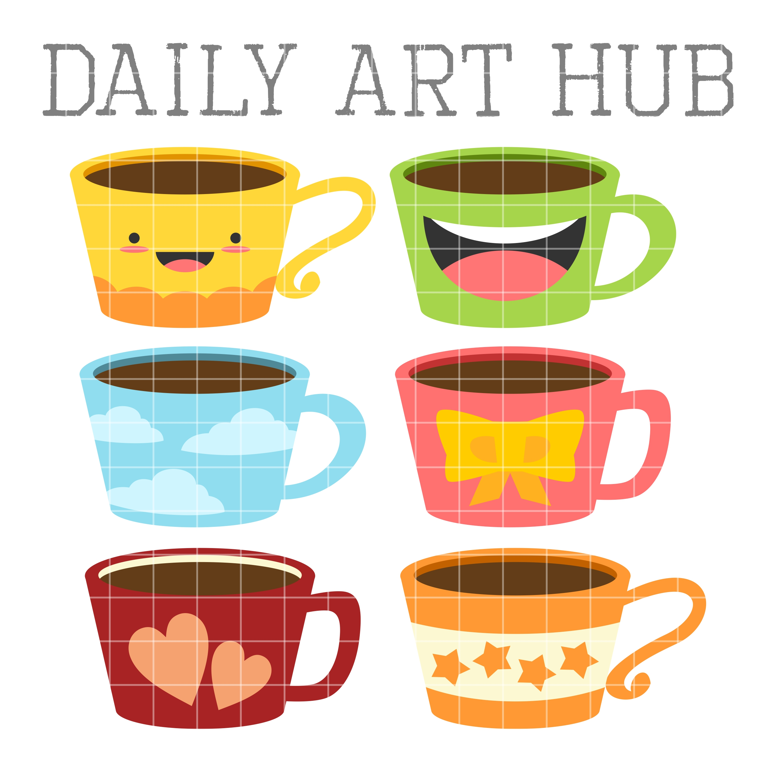 cute coffee mugs clip art set daily art hub free clip art everyday rh dailyarthub com coffee shop clipart free