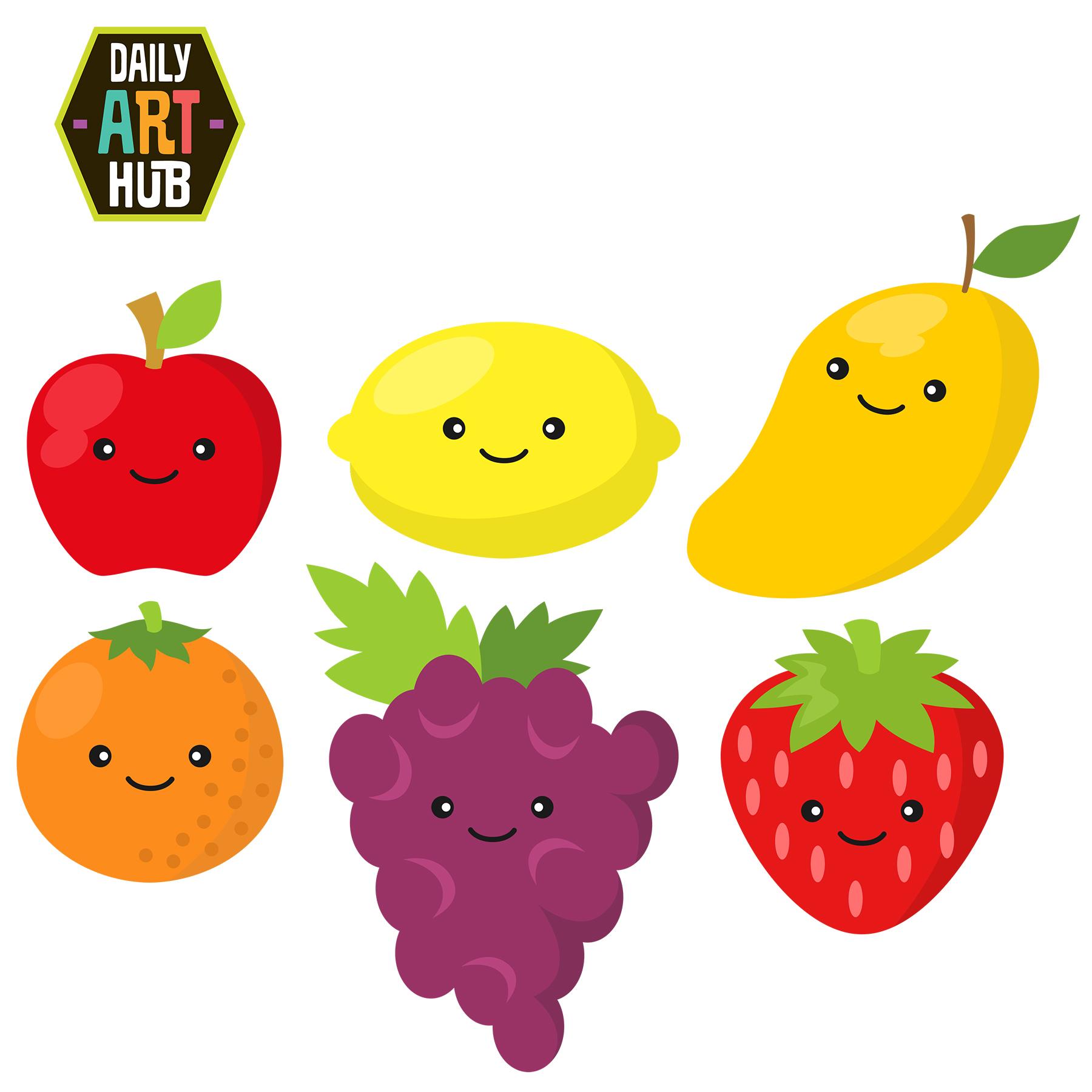 cute fruits clip art set daily art hub free clip art everyday rh dailyarthub com fruit clip art for coloring fruit clipart images