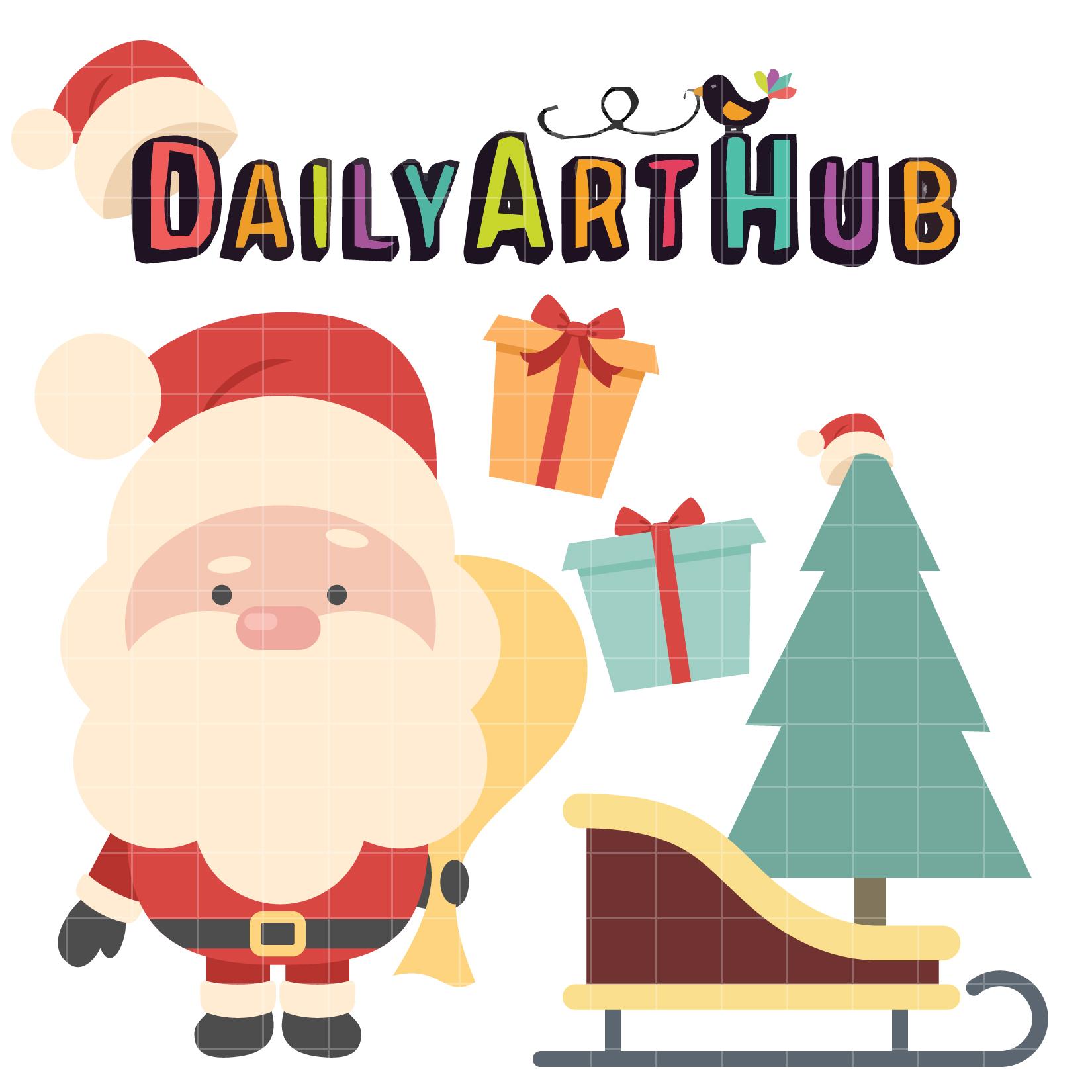 Cute Santa Clip Art Set – Daily Art Hub – Free Clip Art ...