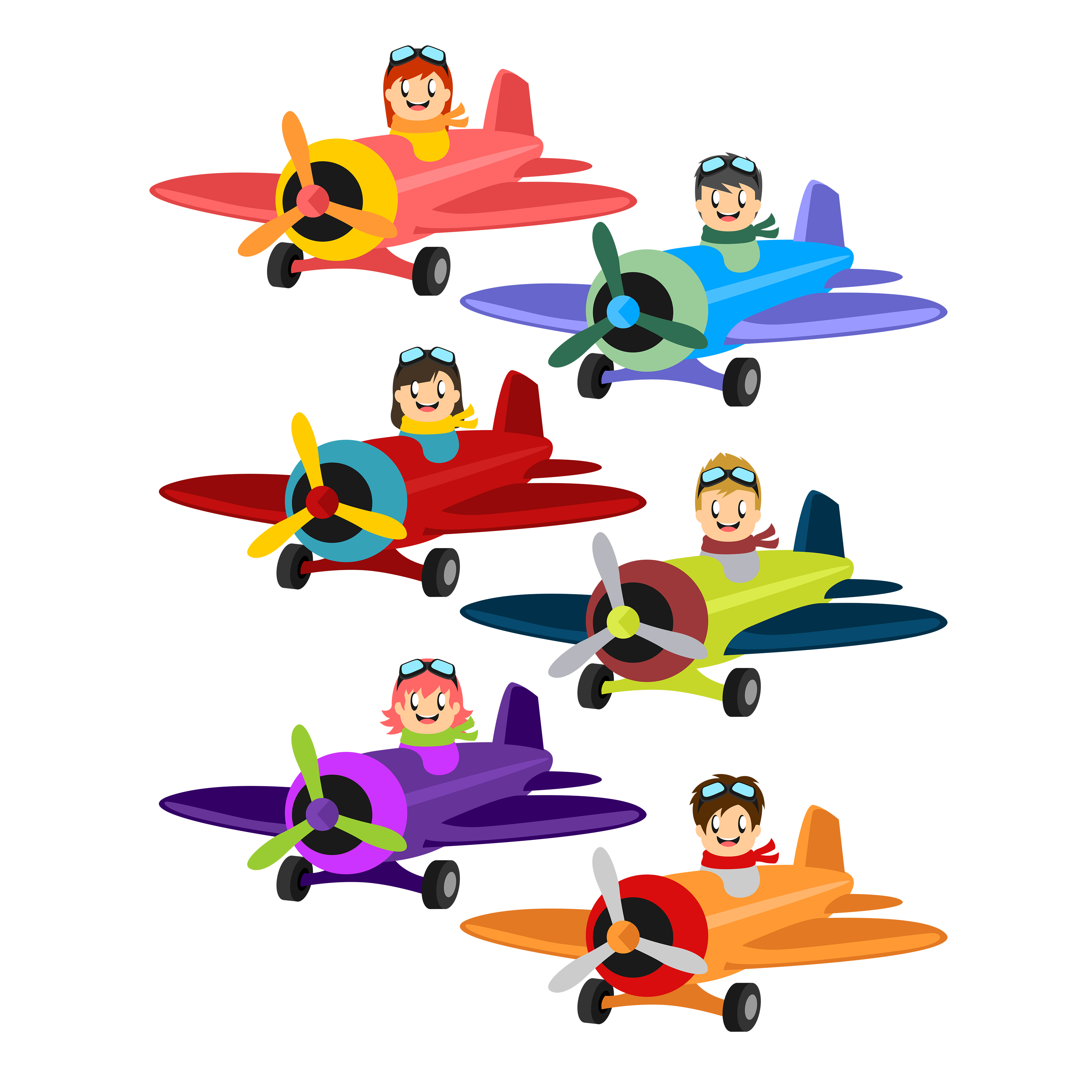 cute planes clip art set daily art hub free clip art everyday rh dailyarthub com planet clipart for kids planes clip art and pictures