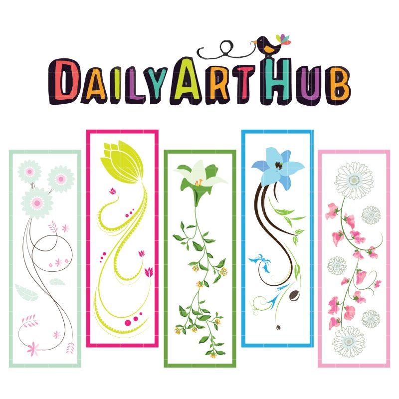 Lovely Floral Bookmarks