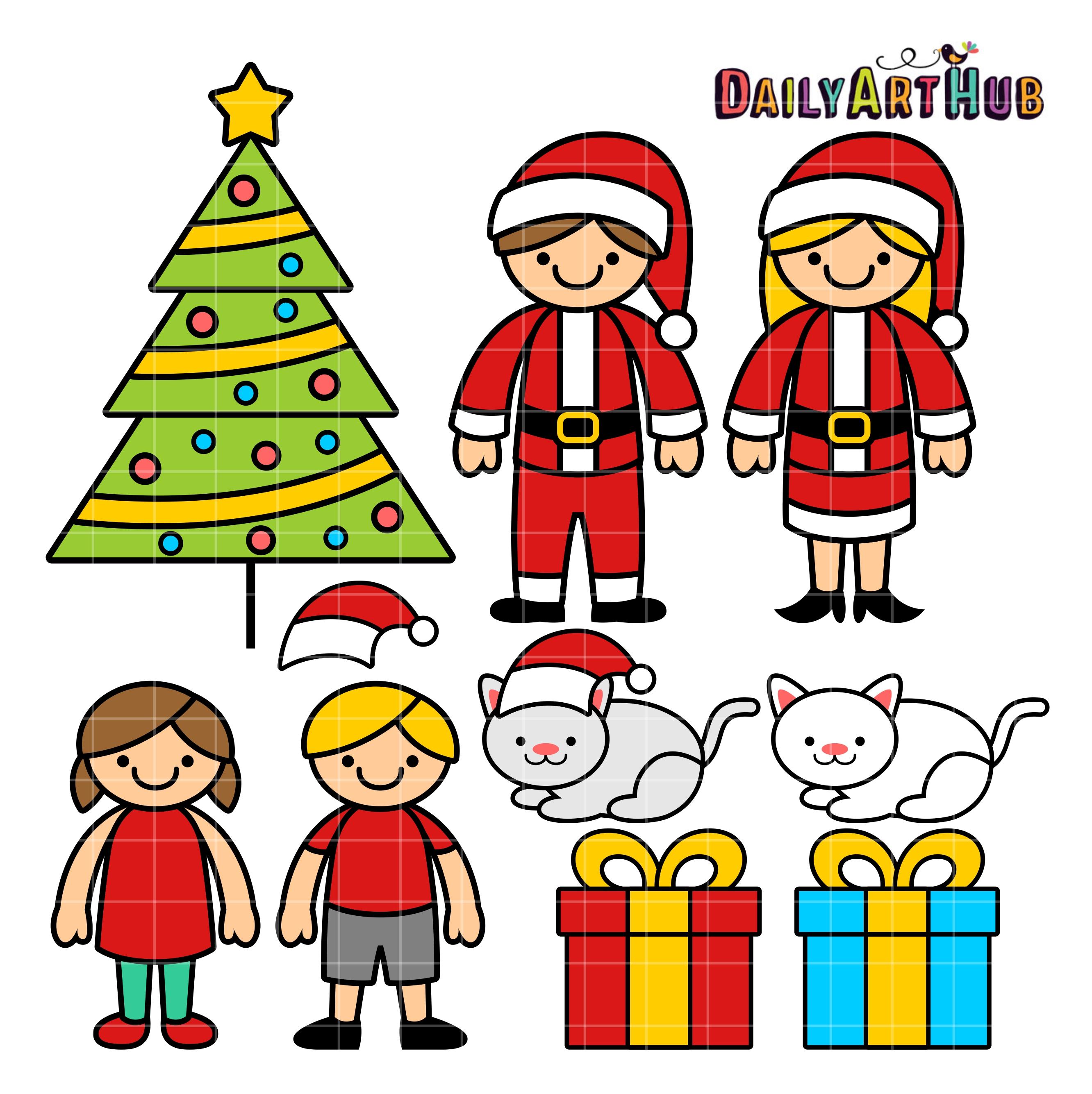 christmas family clip art set daily art hub free clip art everyday rh dailyarthub com