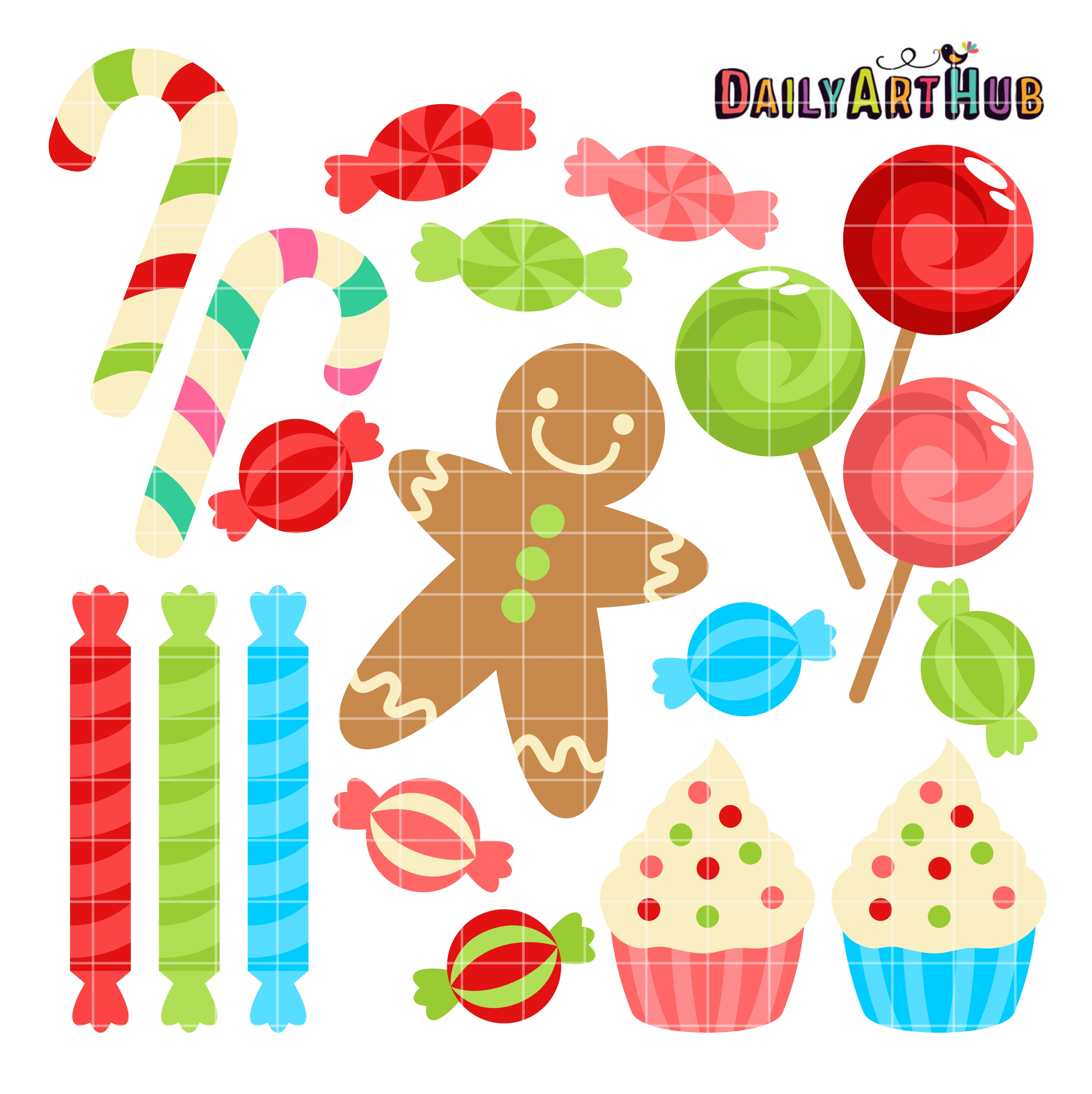 Christmas Sweets.Christmas Sweets Clip Art Set