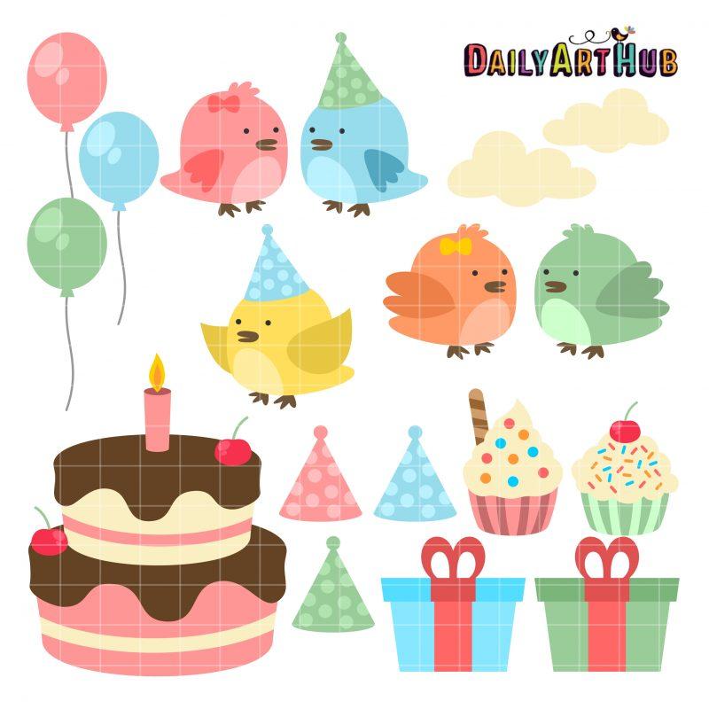 Cute Birthday Birds