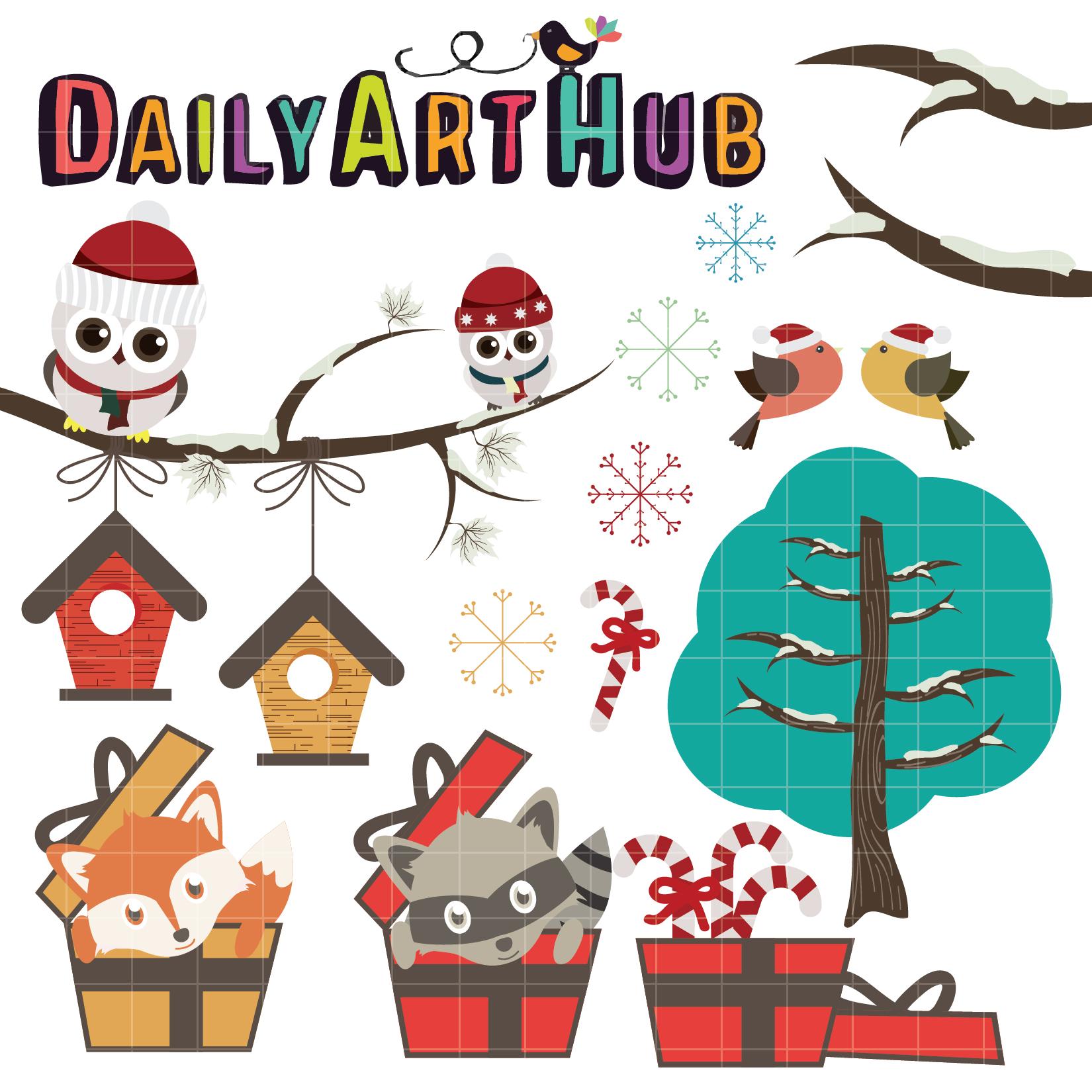 Cute Christmas Animals Clip Art Set – Daily Art Hub – Free ...