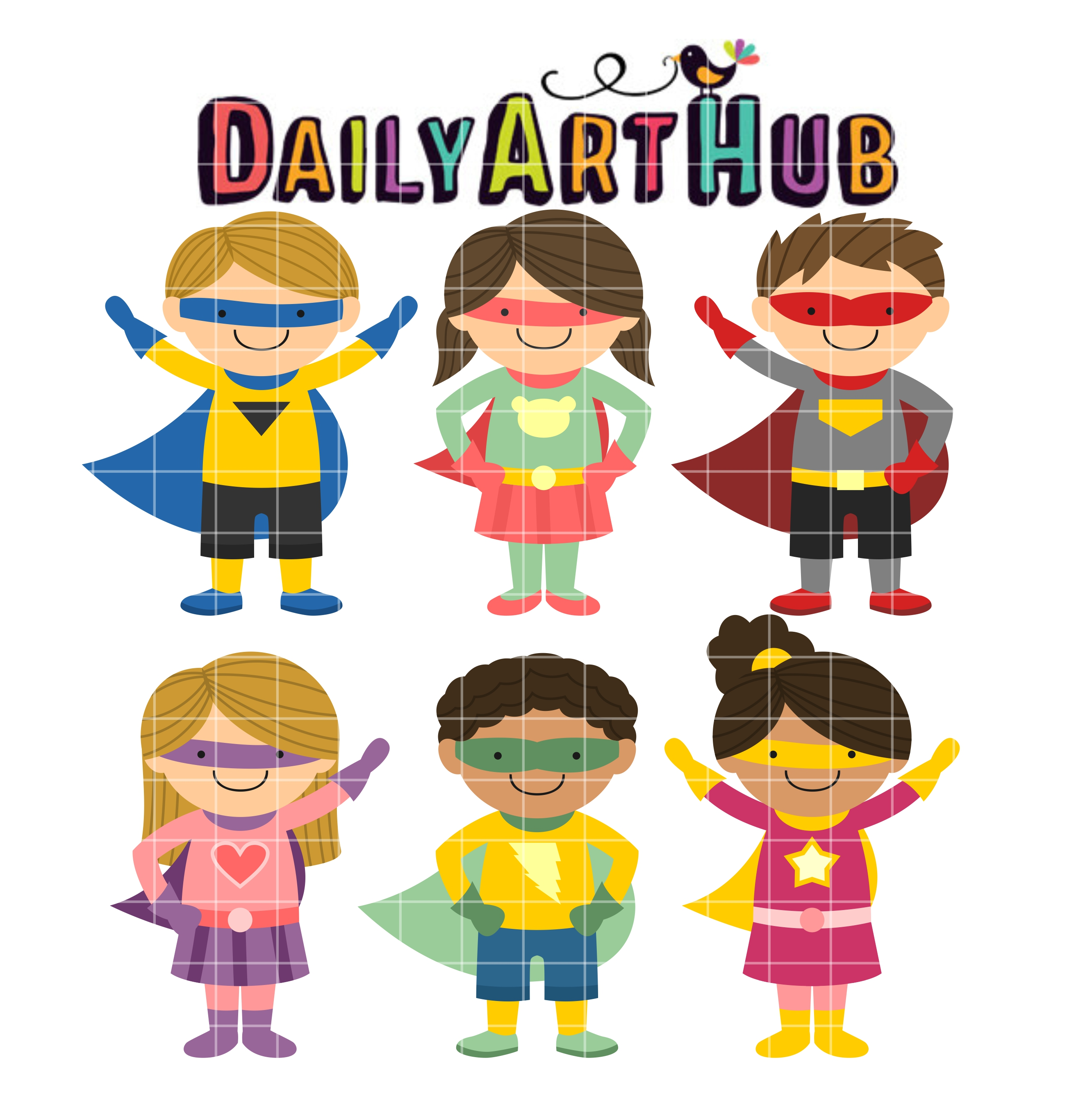 superhero kids clip art set $ 2 99 superhero kids clip art set add to