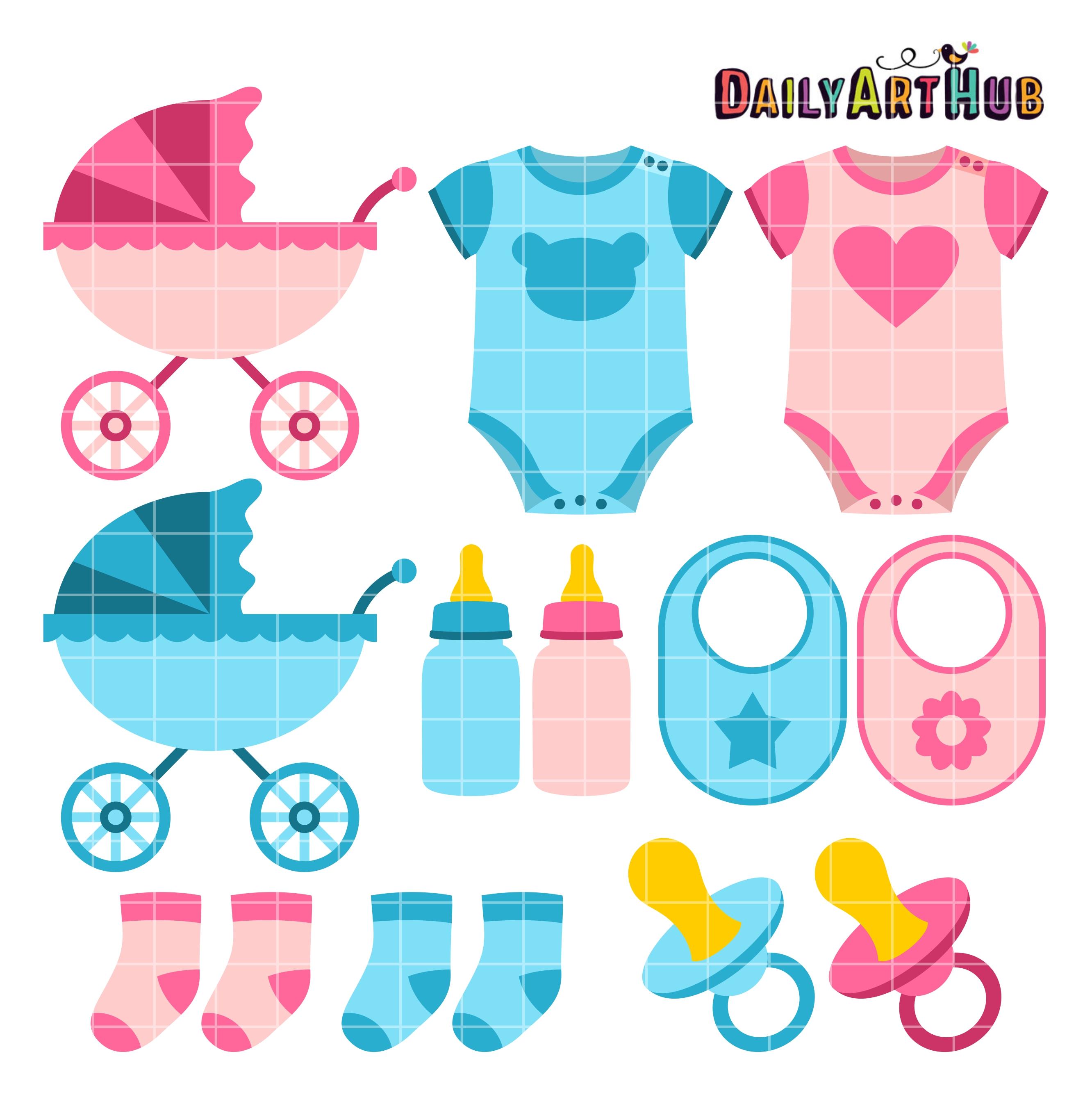 baby things clip art set daily art hub baby items clipart images baby items clipart free black and white