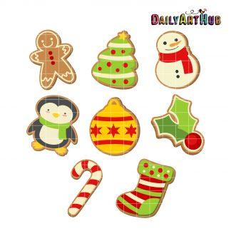 Christmas Cookies Clipart.Christmas Cookies Clip Art Set