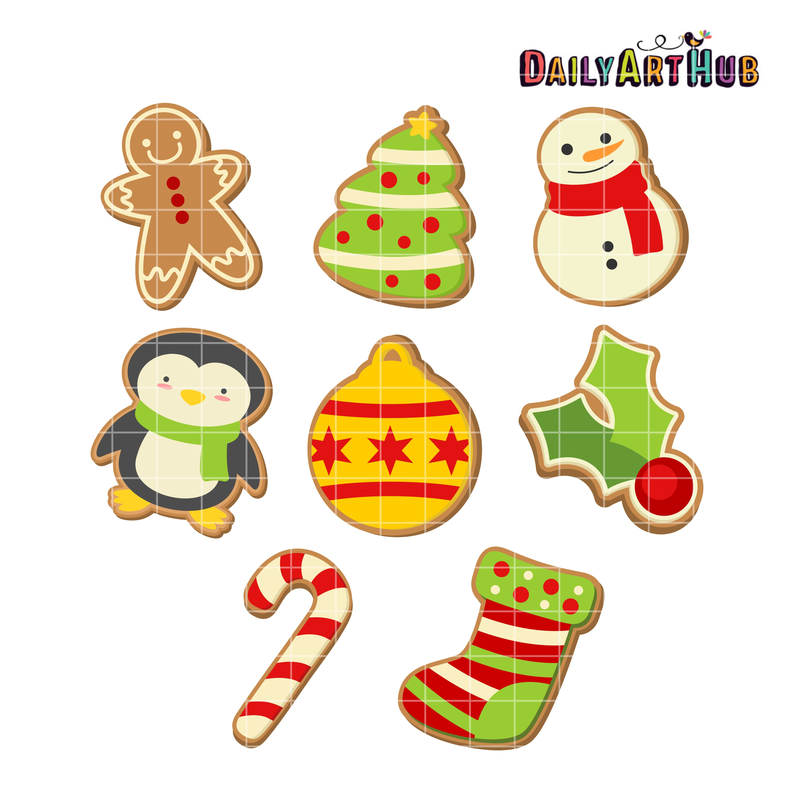 Christmas Cookies Clip Art Set | Daily Art Hub