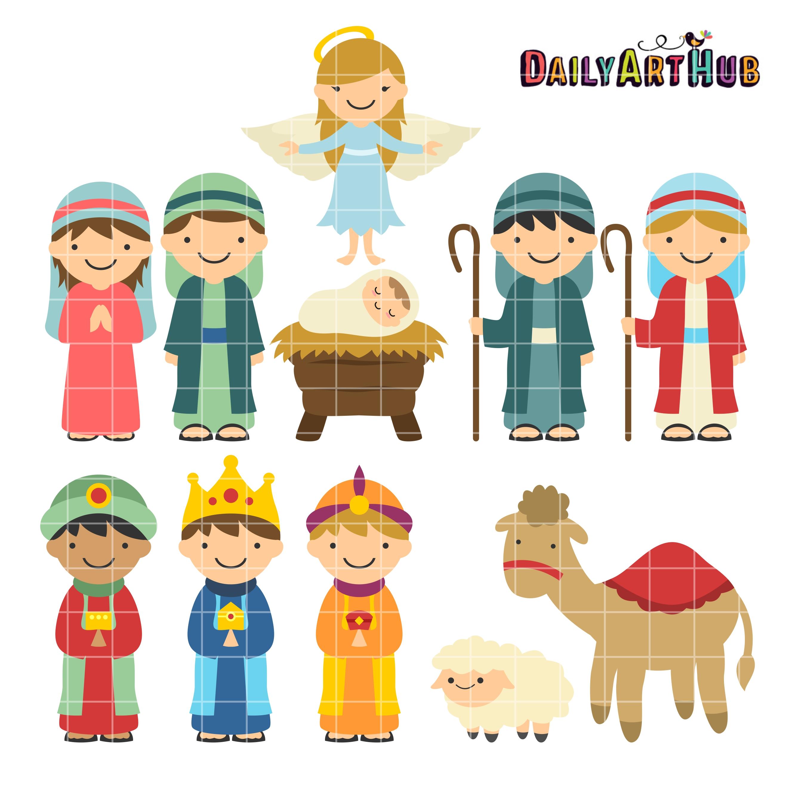 christmas manger clip art set daily art hub Christmas Nativity Star Clip Art christmas clipart manger scene