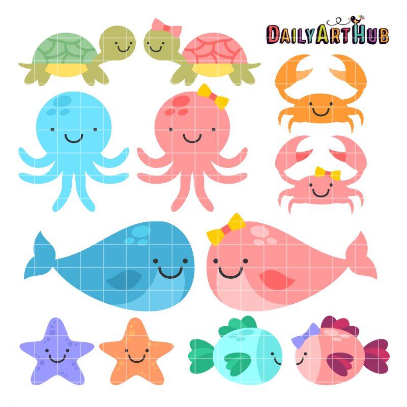 Cute Baby Sea Animals