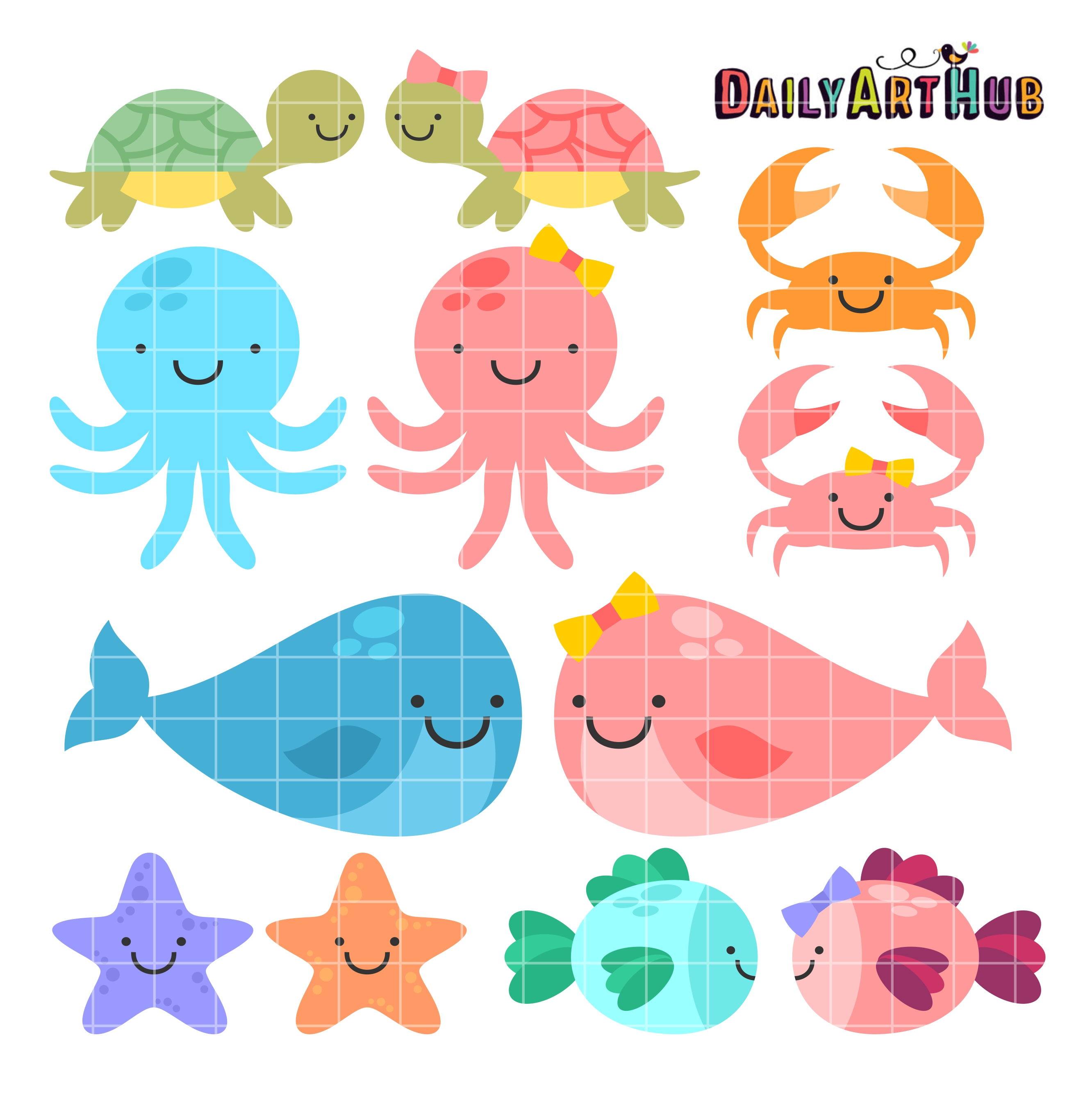 cute baby sea animals clip art set daily art hub free clip art rh dailyarthub com sea animals clipart black and white sea animal clipart