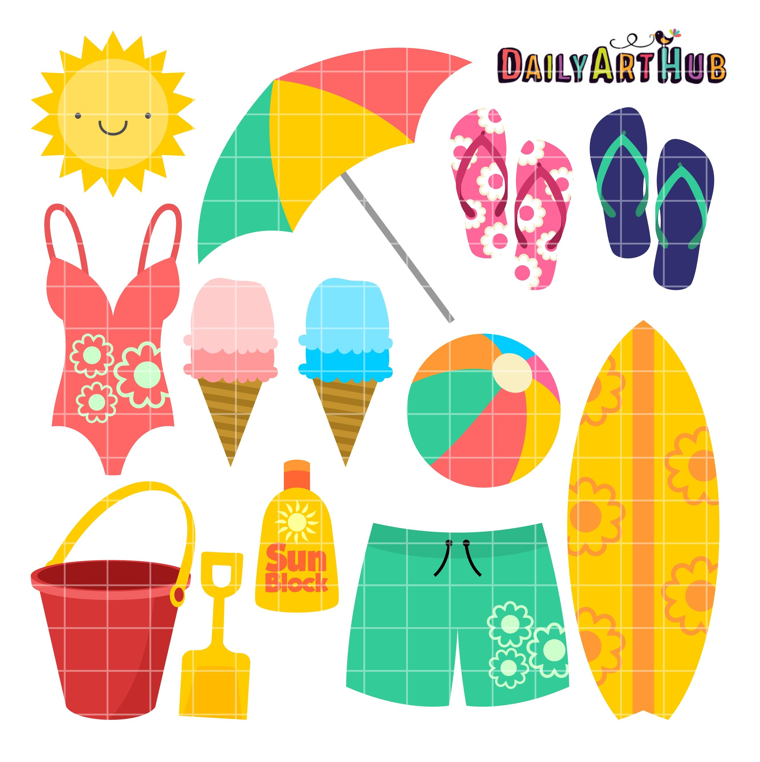 917c4a0cb Cute Beach Clip Art Set – Daily Art Hub – Free Clip Art Everyday