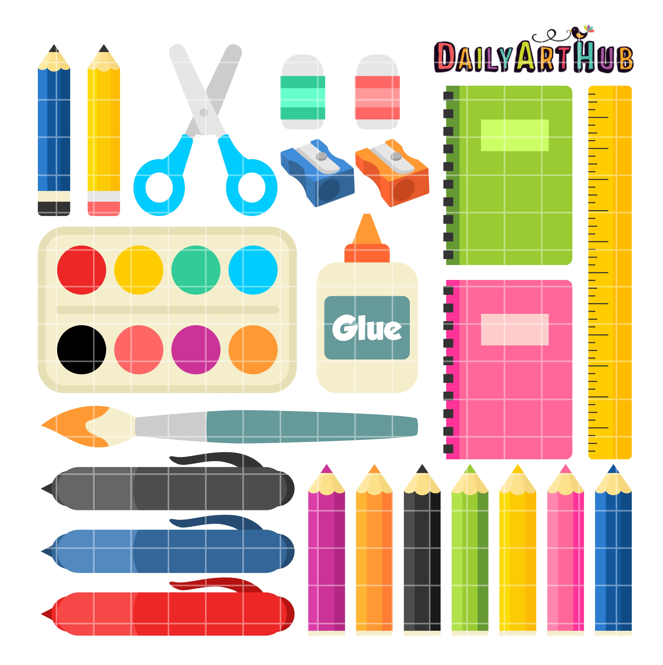 School supplies clip art set daily art hub free clip art everyday school supplies clip art set voltagebd Image collections