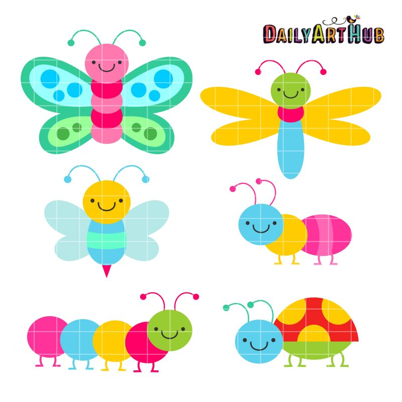 Cute Colorful Bugs