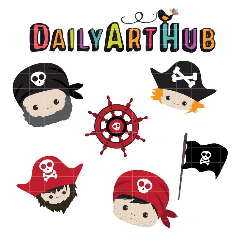 Cute Pirate Heads