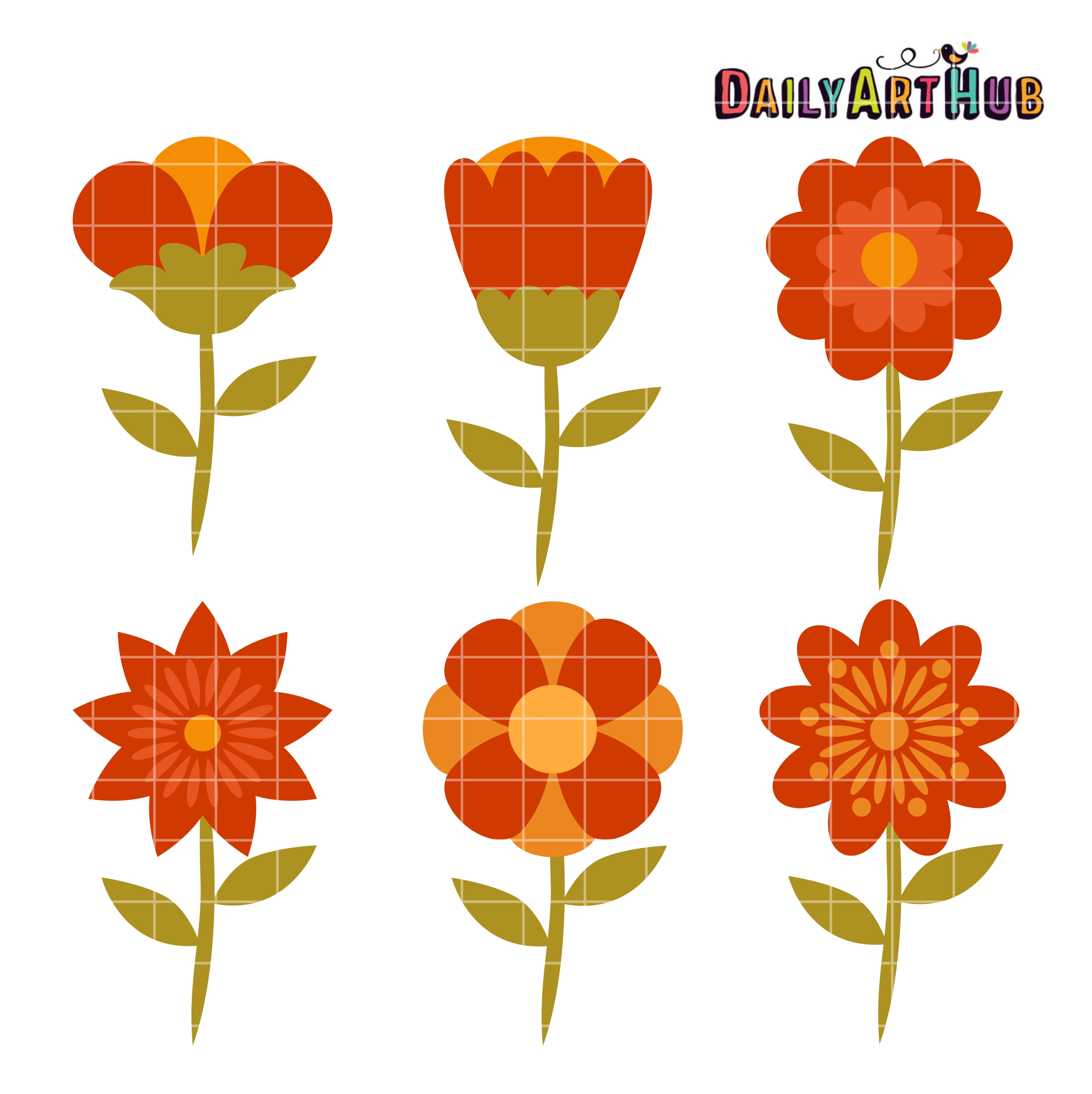 Fall Flowers Clip Art Set | Daily Art Hub