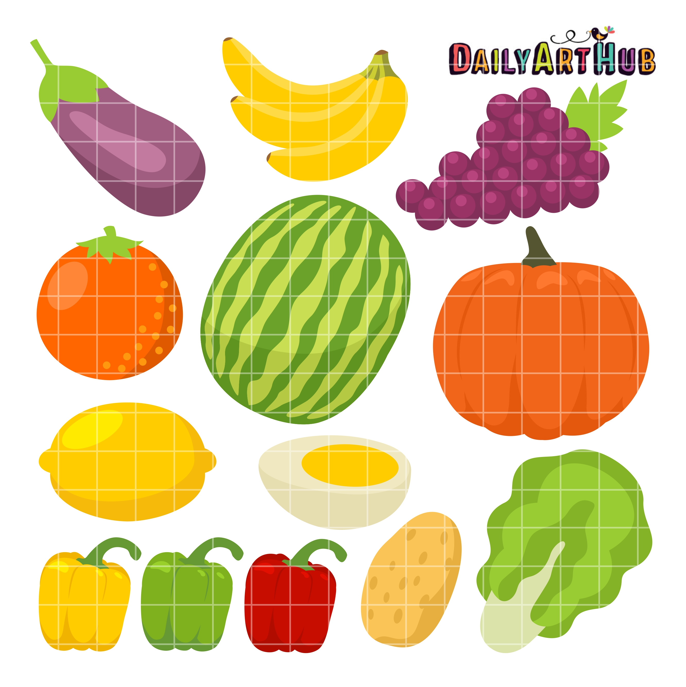 Healthy Foods Clip Art Set Daily Art Hub Free Clip Art Everyday