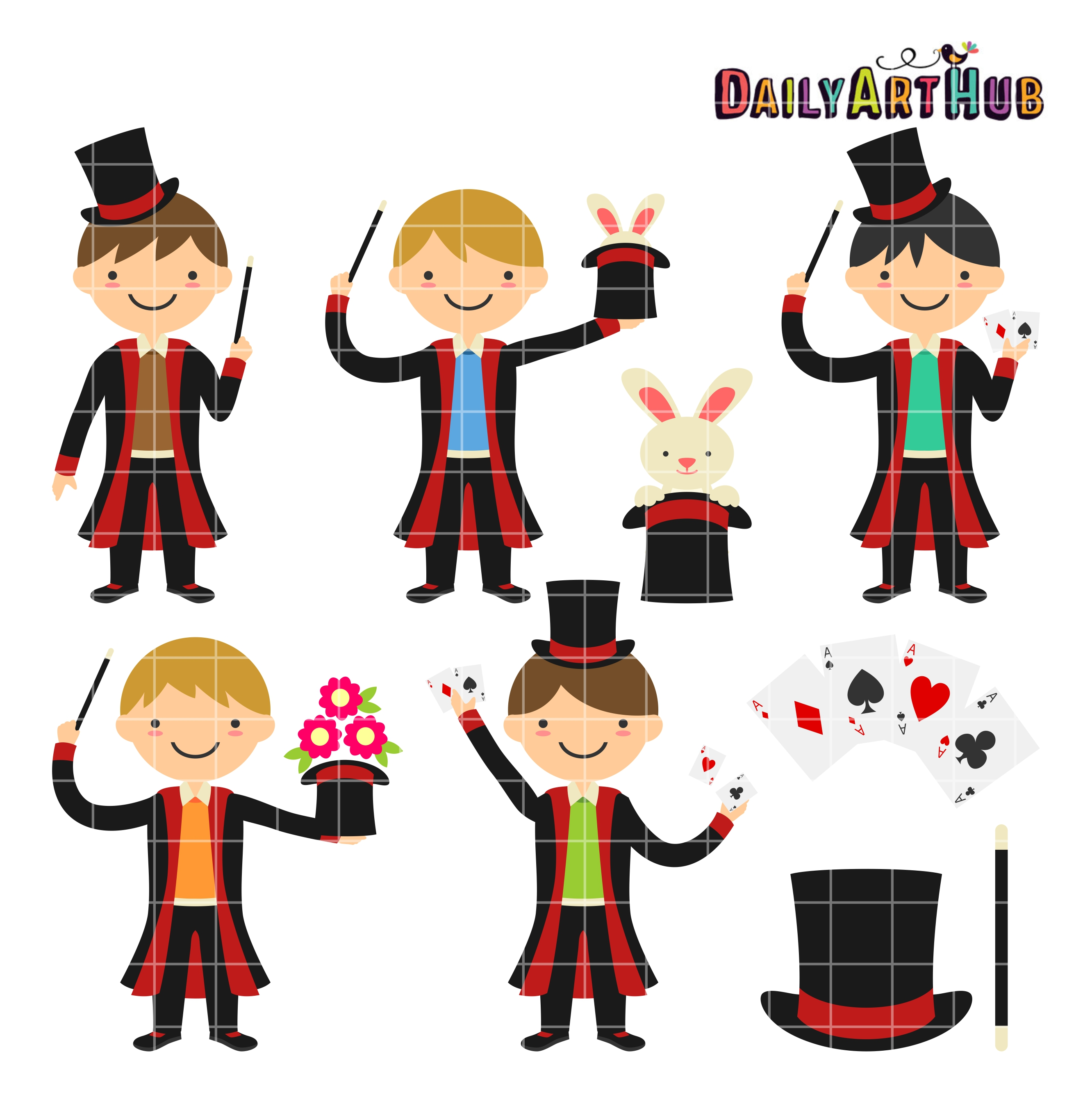 magician boys clip art set daily art hub free clip art everyday rh dailyarthub com magician clipart black and white magician clipart images