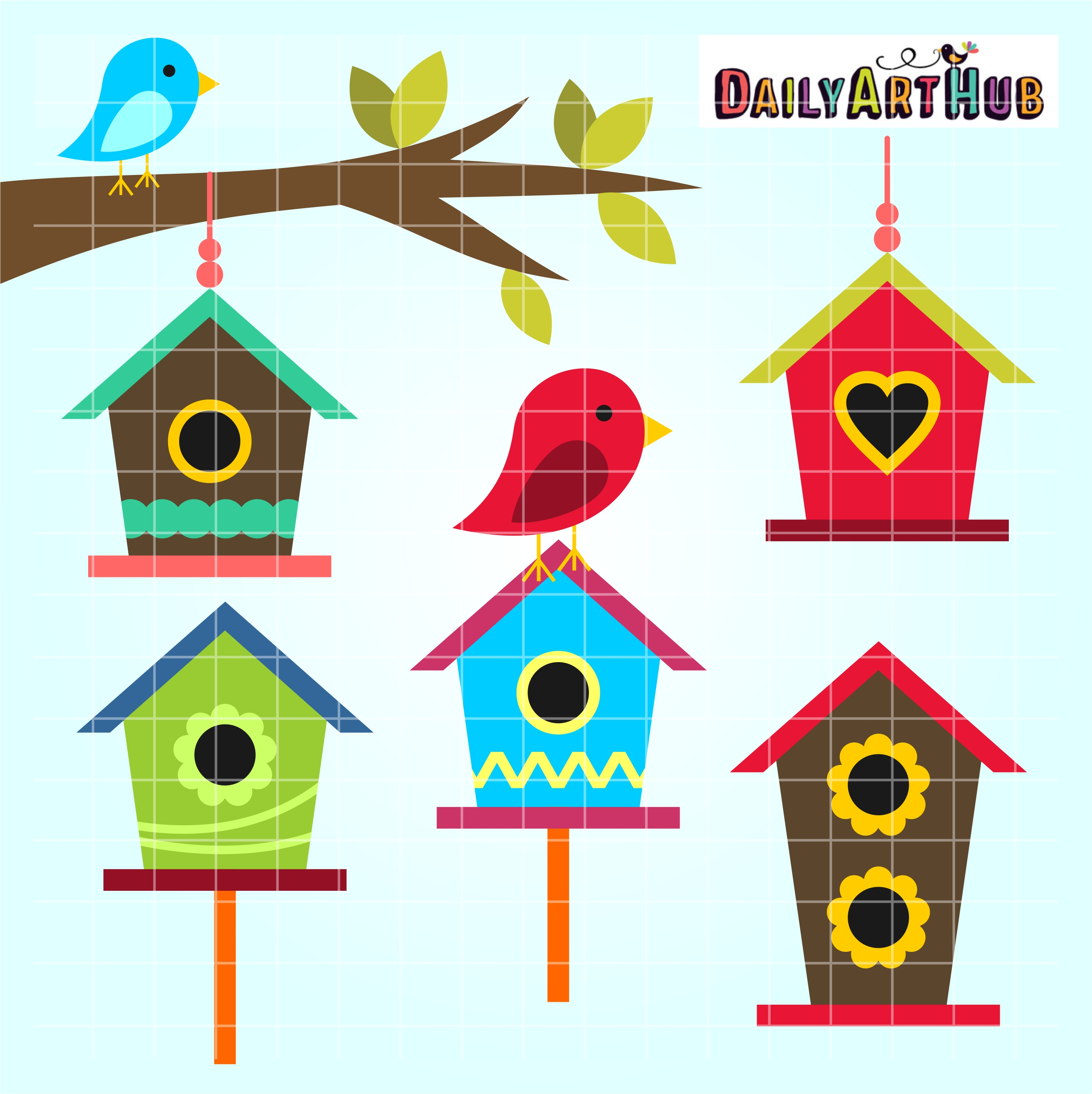 bird houses clip art set $ 2 99 bird houses clip art set add to cart ...