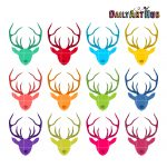 Colorful Deer Heads