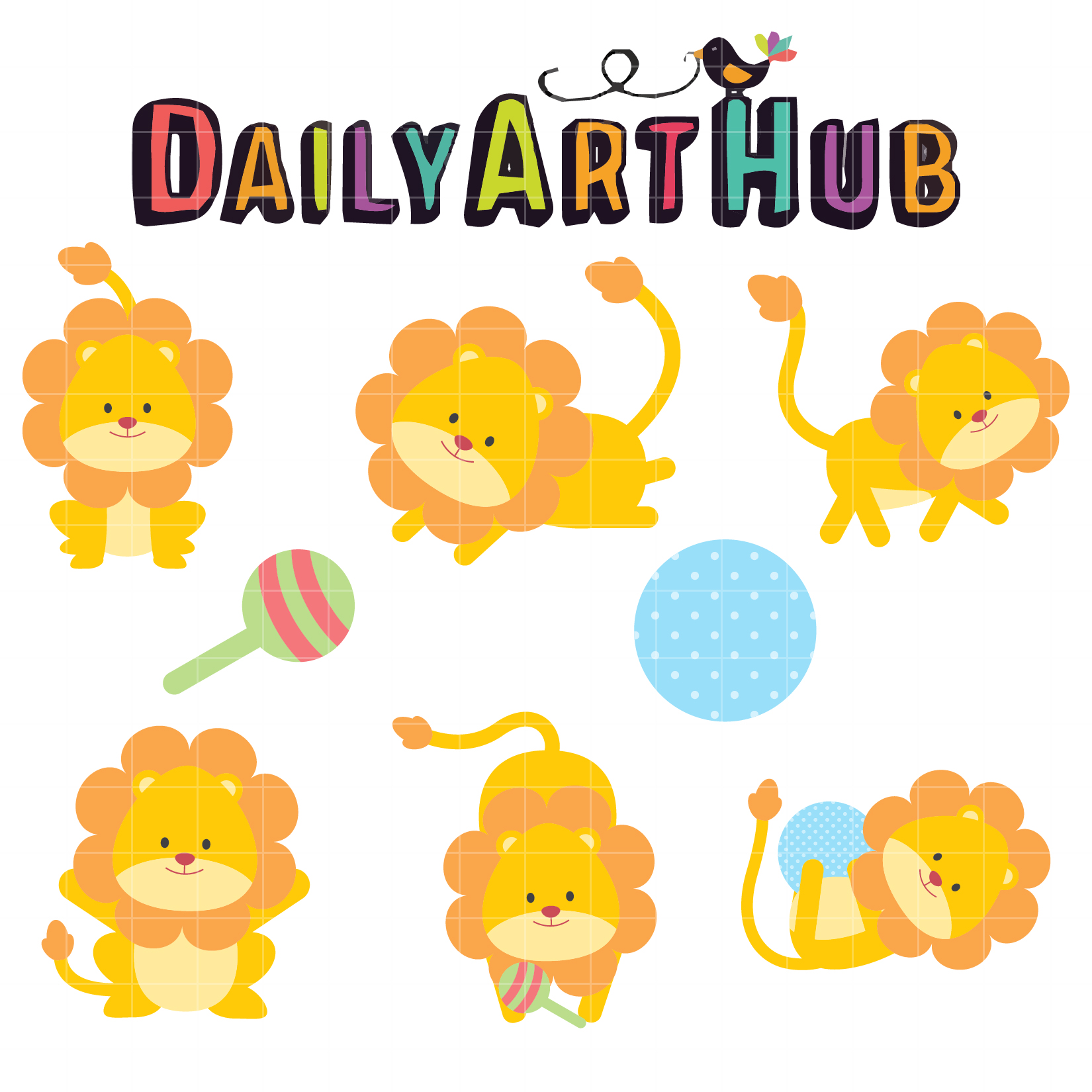 cute lion cubs clip art set daily art hub free clip art everyday rh dailyarthub com cute lion cub clipart