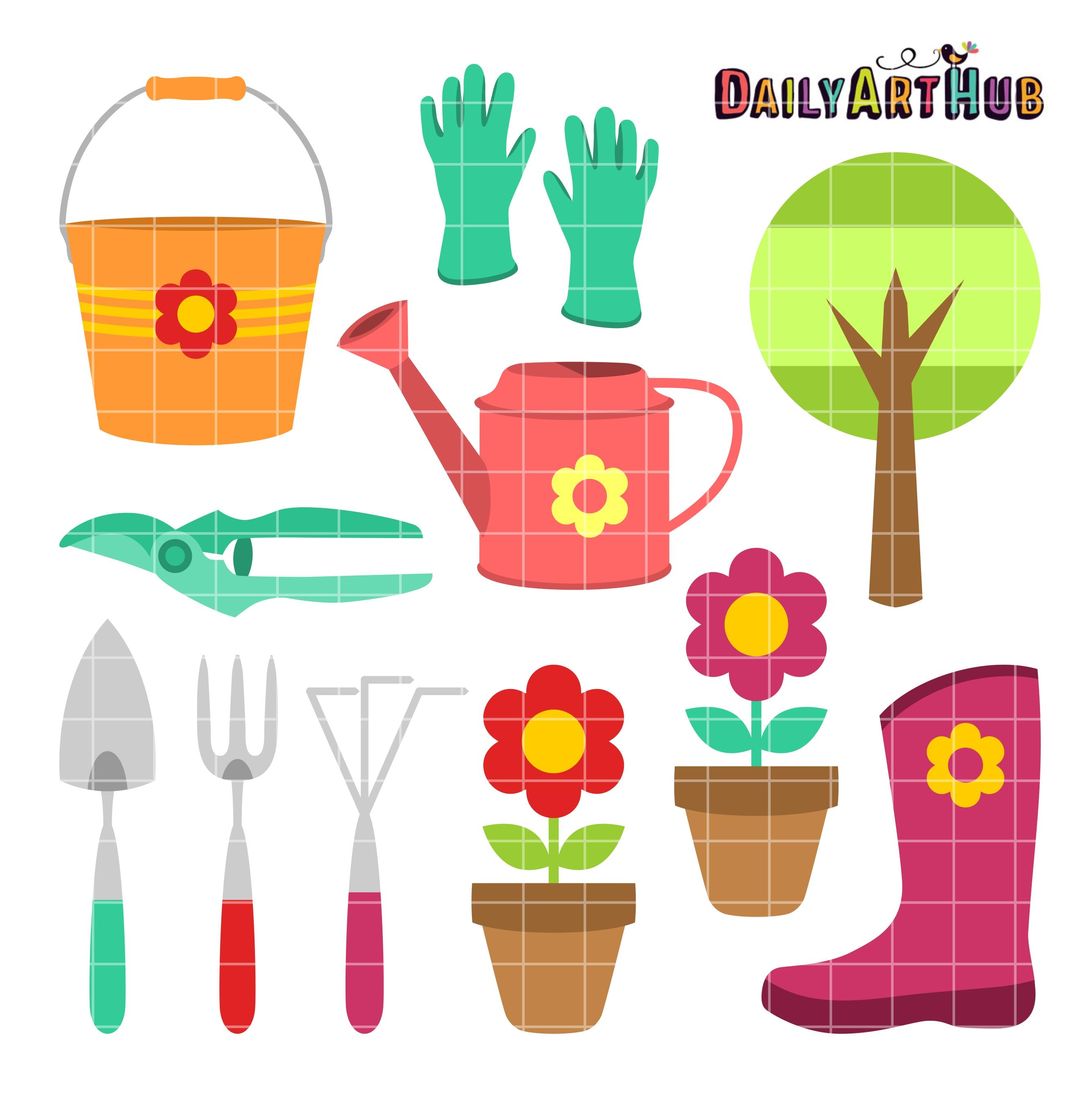 Gardening Things Clip Art Set | Daily Art Hub