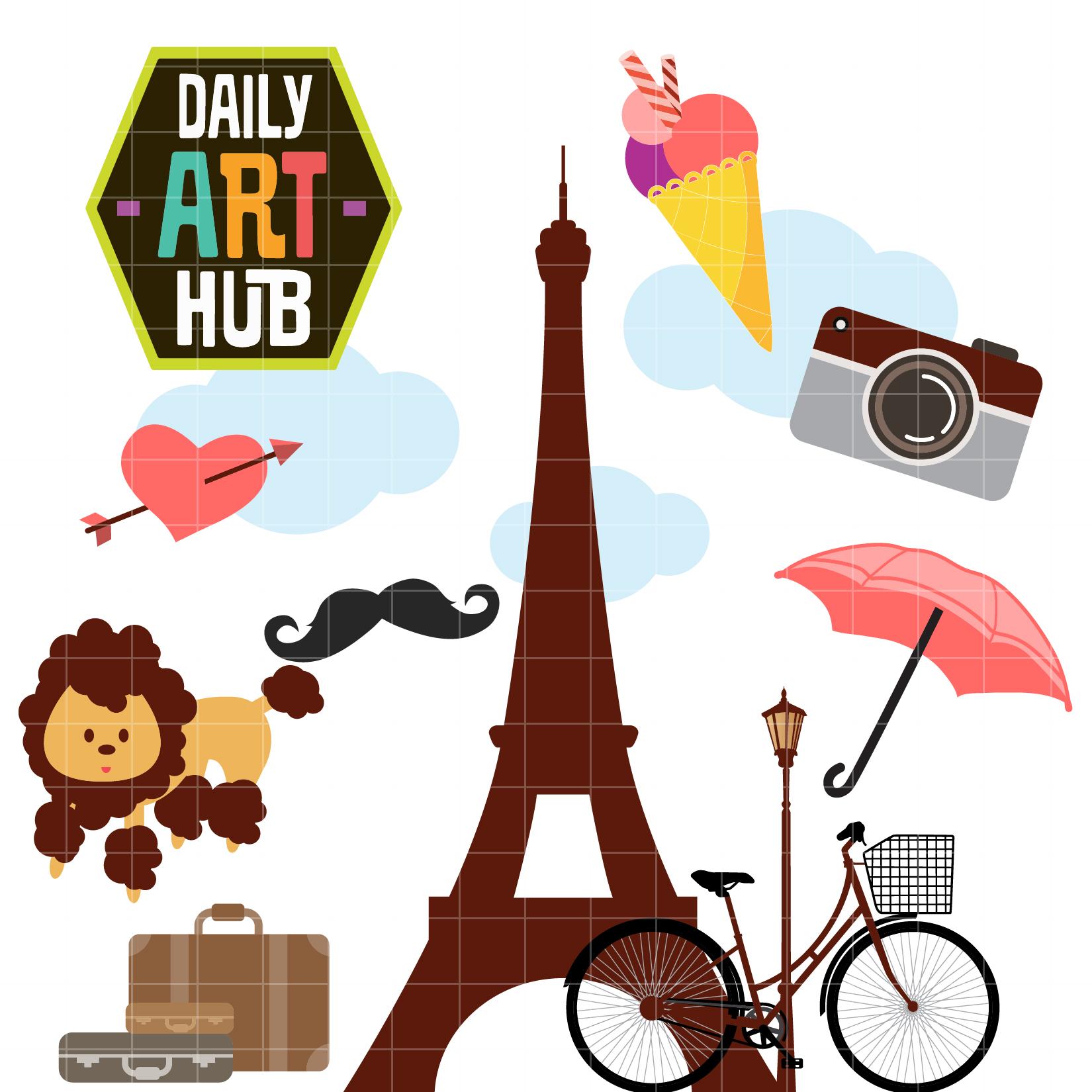 paris clip art set daily art hub. Black Bedroom Furniture Sets. Home Design Ideas