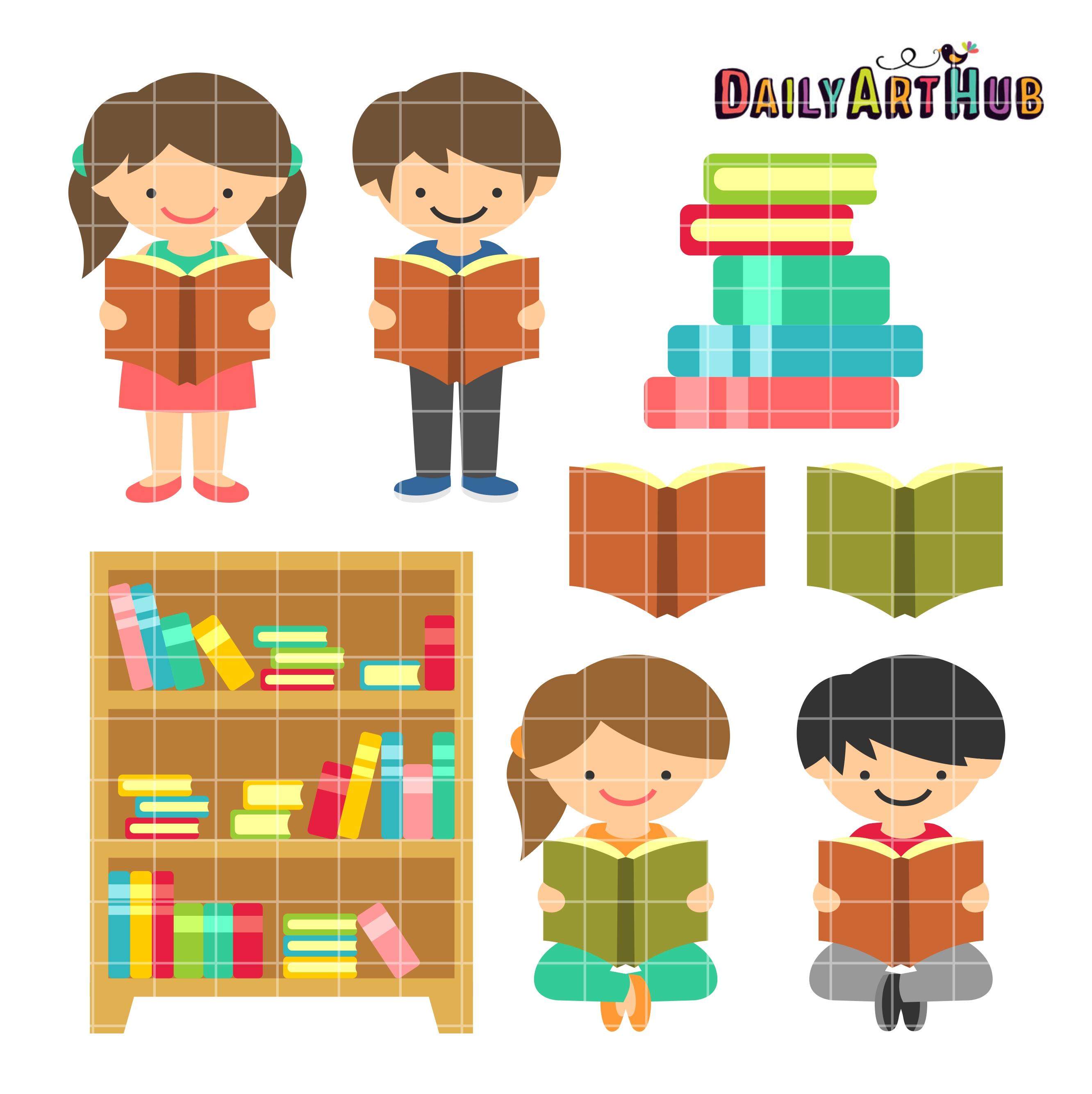 Reading is Fun Clip Art Set   Daily Art Hub