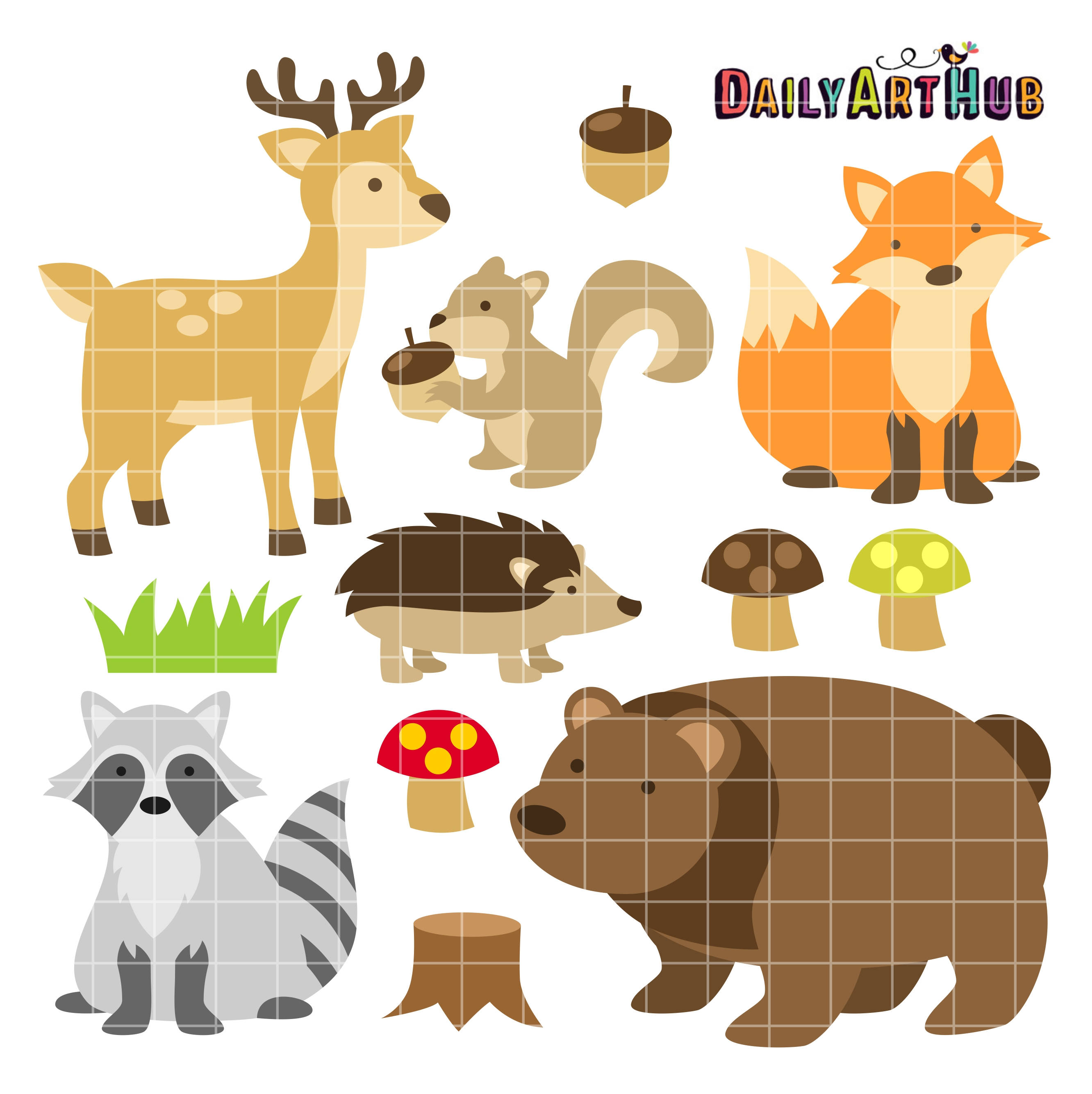 free clip art woodland animals - photo #1