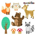 Woodland Cute Animals