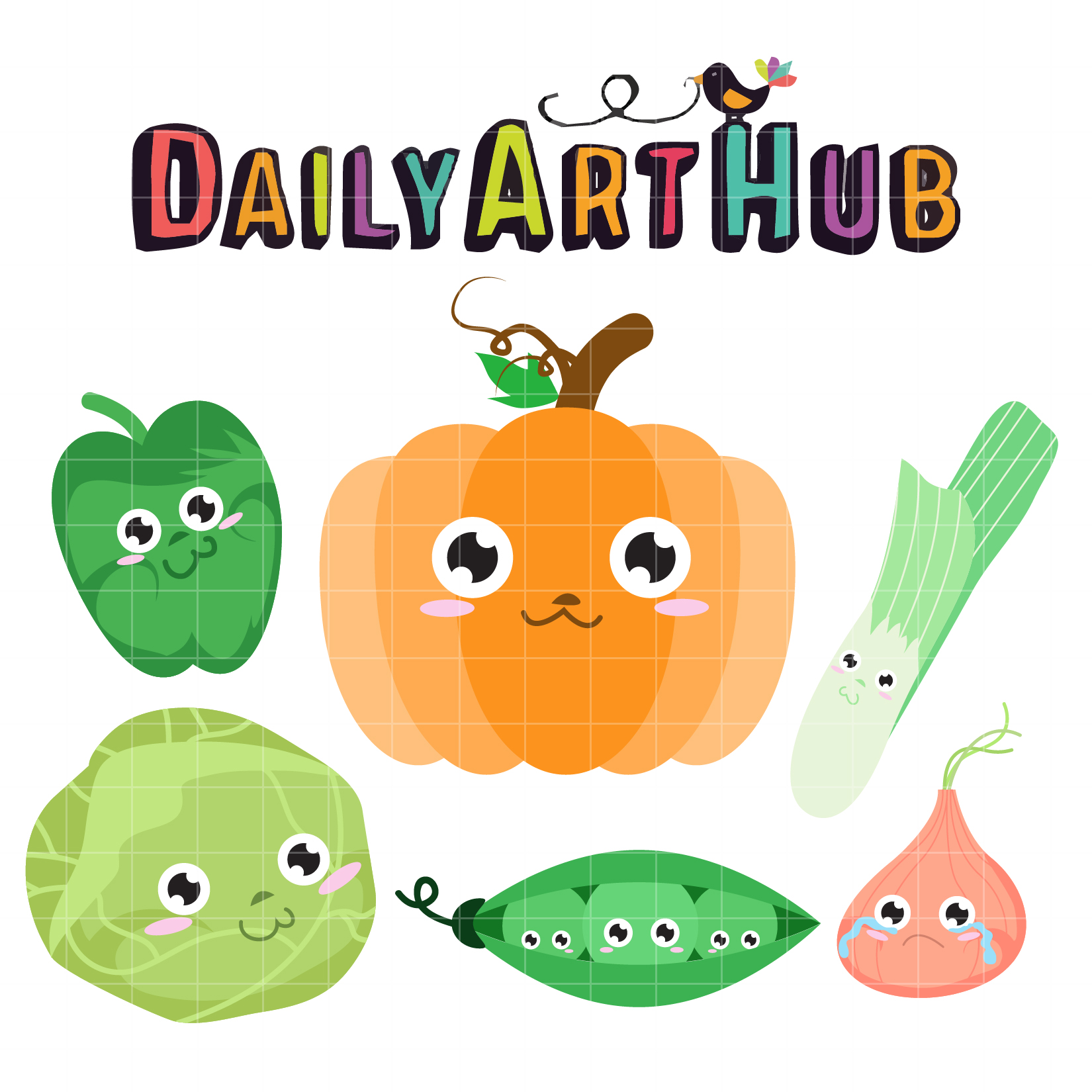 Cute Vegetables Clip Art Set – Daily Art Hub – Free Clip ...