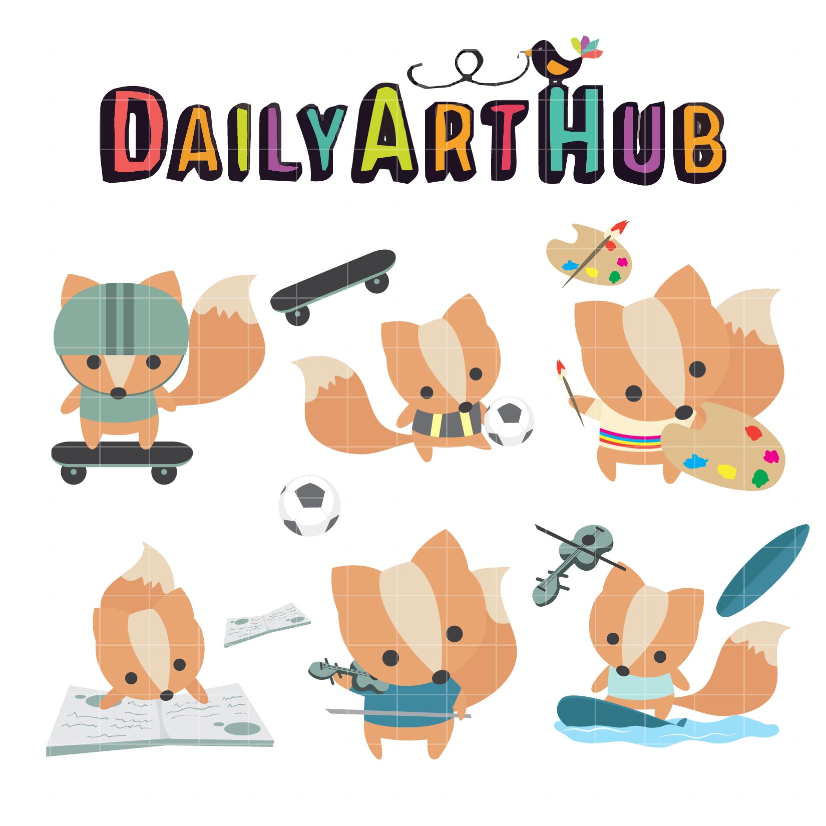 Fox Hobbies Clip Art Set Daily Art Hub Free Clip Art Everyday