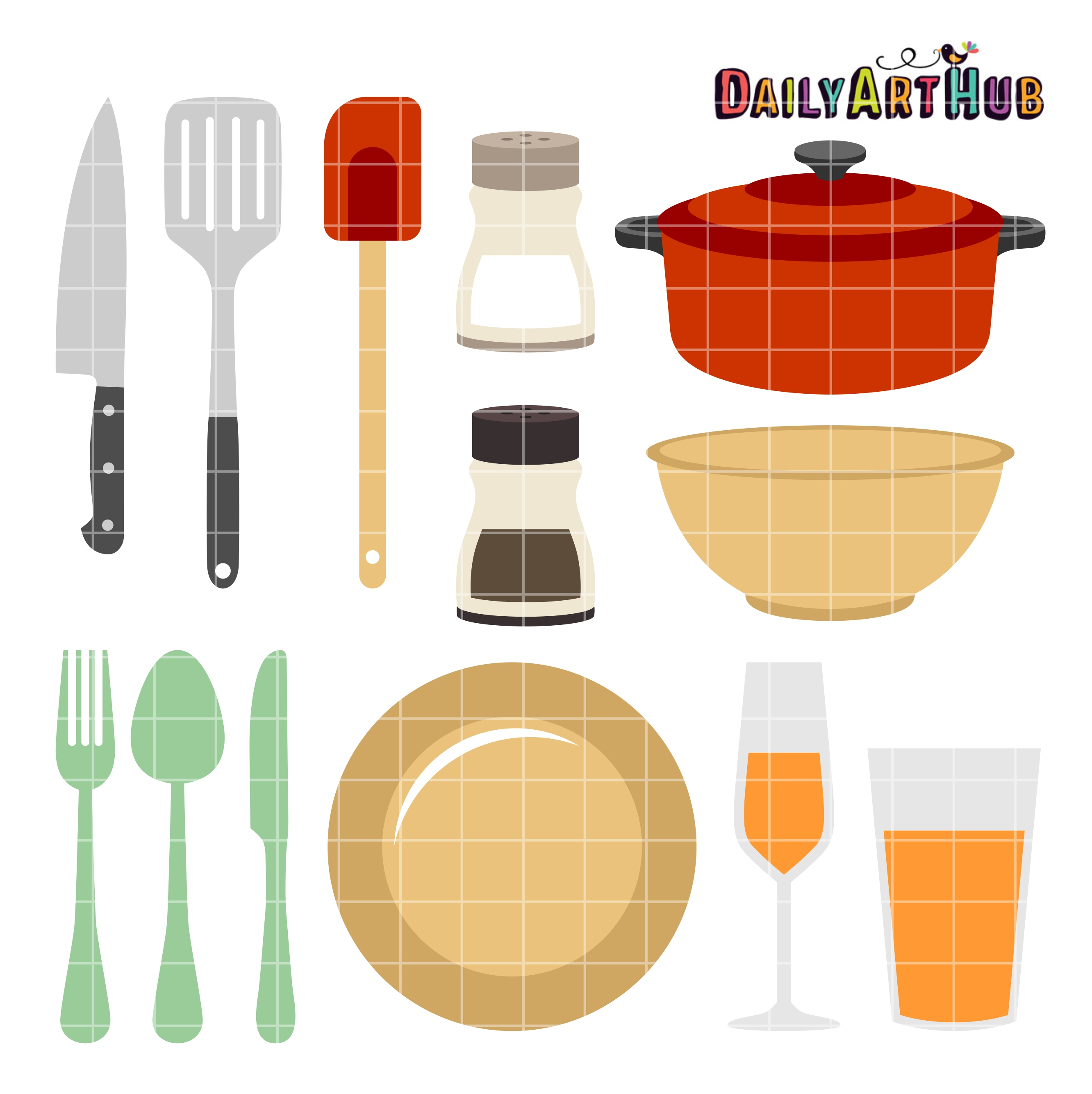 Kitchen Things Clip Art Set