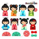 Kokeshi Japanese Dolls
