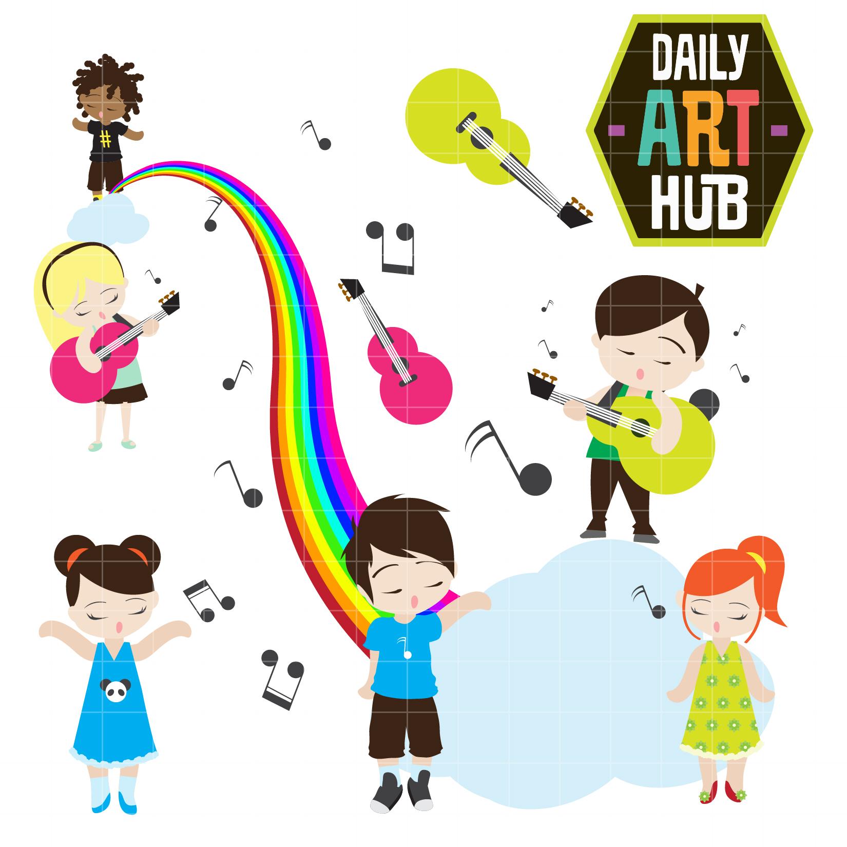 music kids clip art set daily art hub free clip art everyday rh dailyarthub com Religious Music Clip Art Music Therapy Clip Art