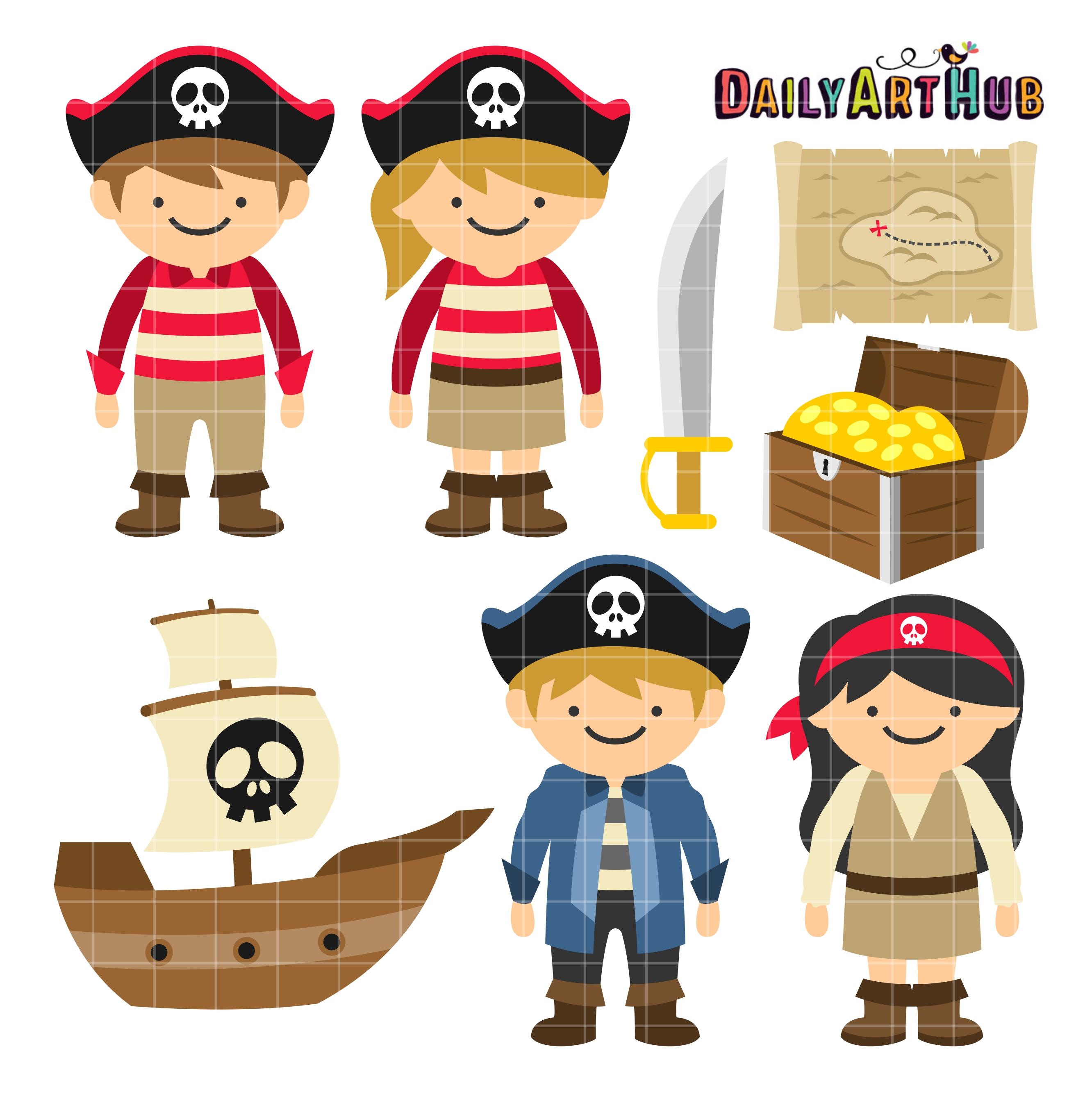 Pirate Kids Clip Art Set – Daily Art Hub – Free Clip Art ...