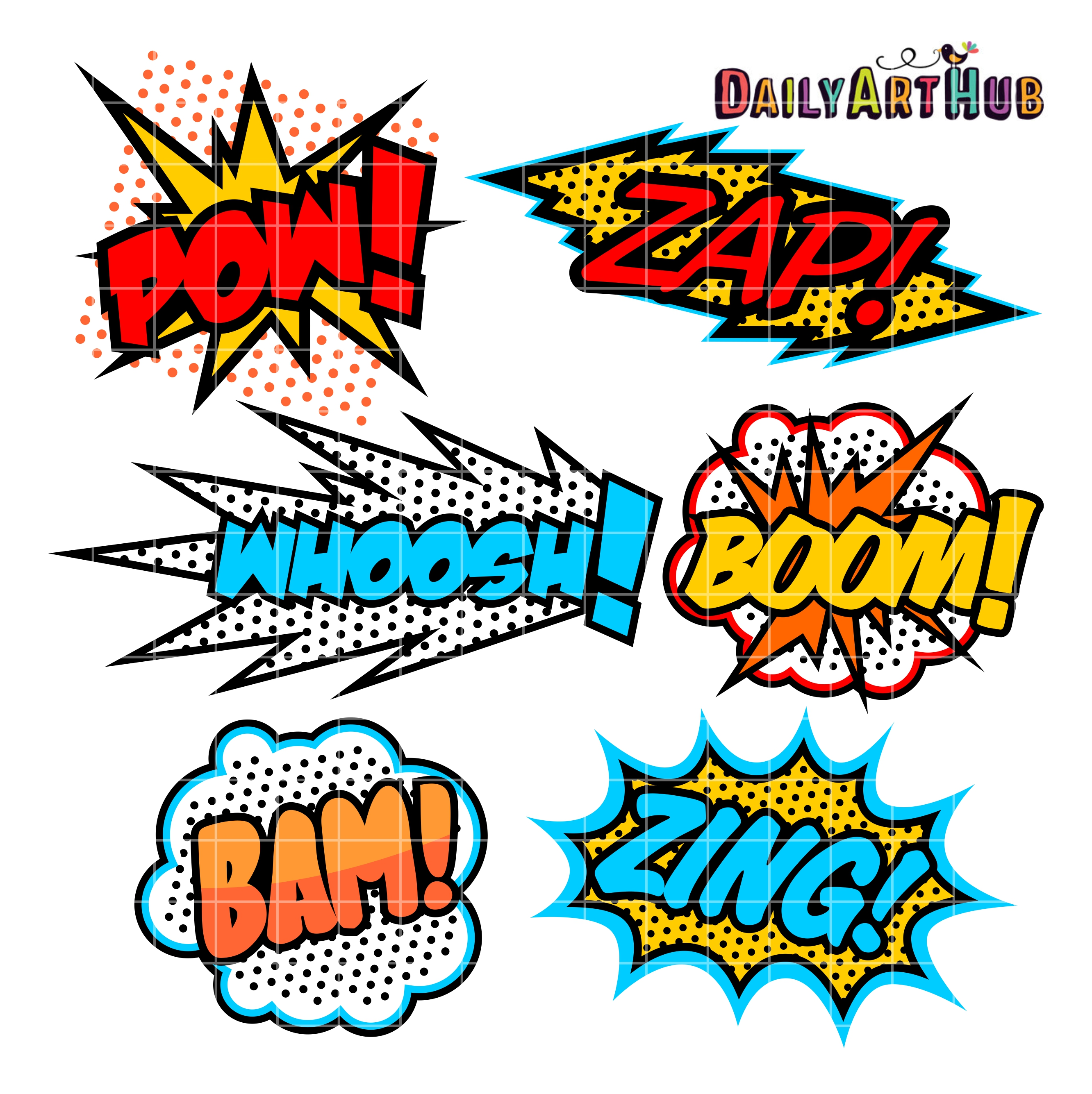 superhero callout clip art set daily art hub free clip art everyday rh dailyarthub com superhero clipart free download superhero clip art free download