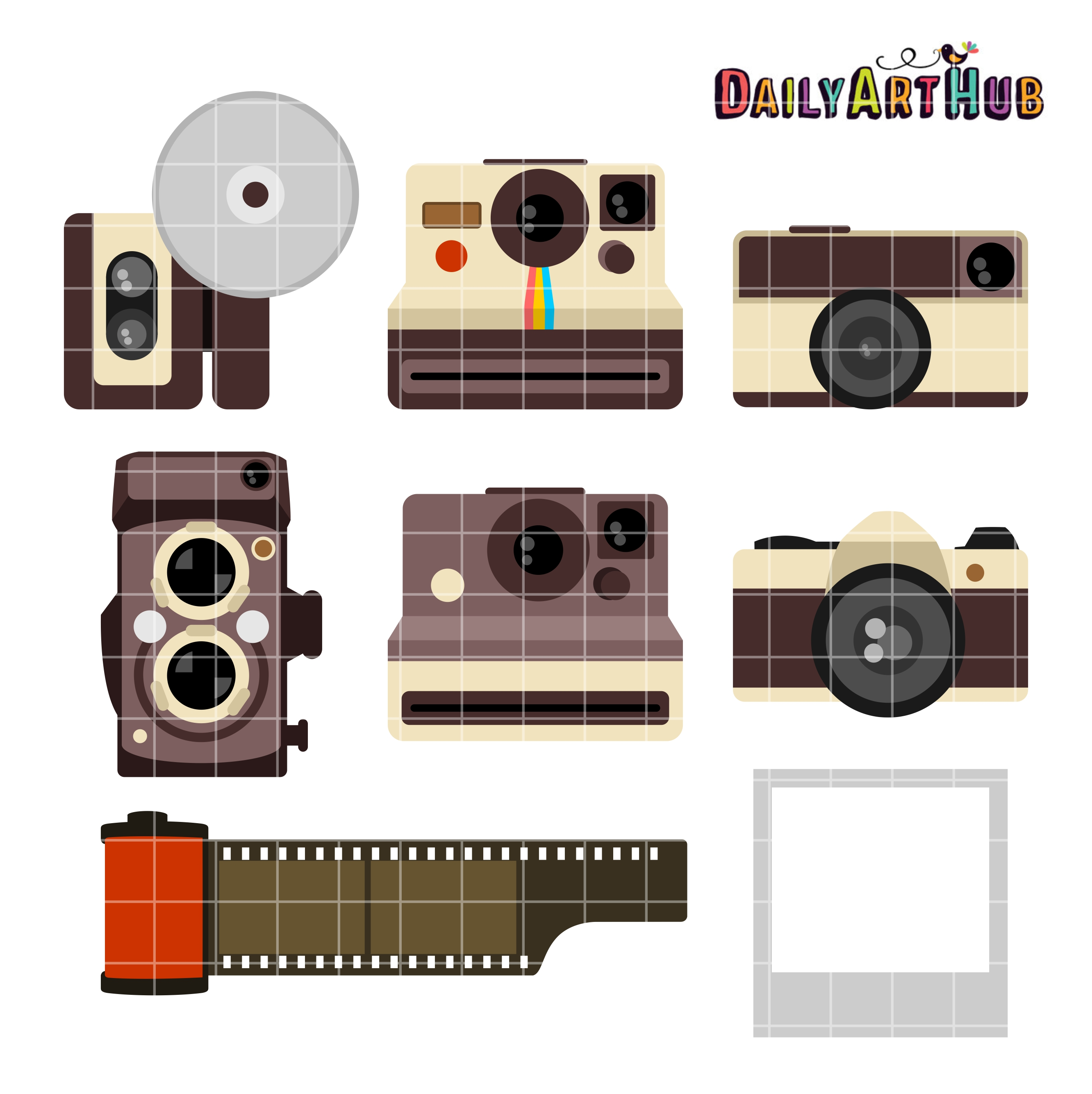 Vintage Camera Clip Art Set | Daily Art Hub