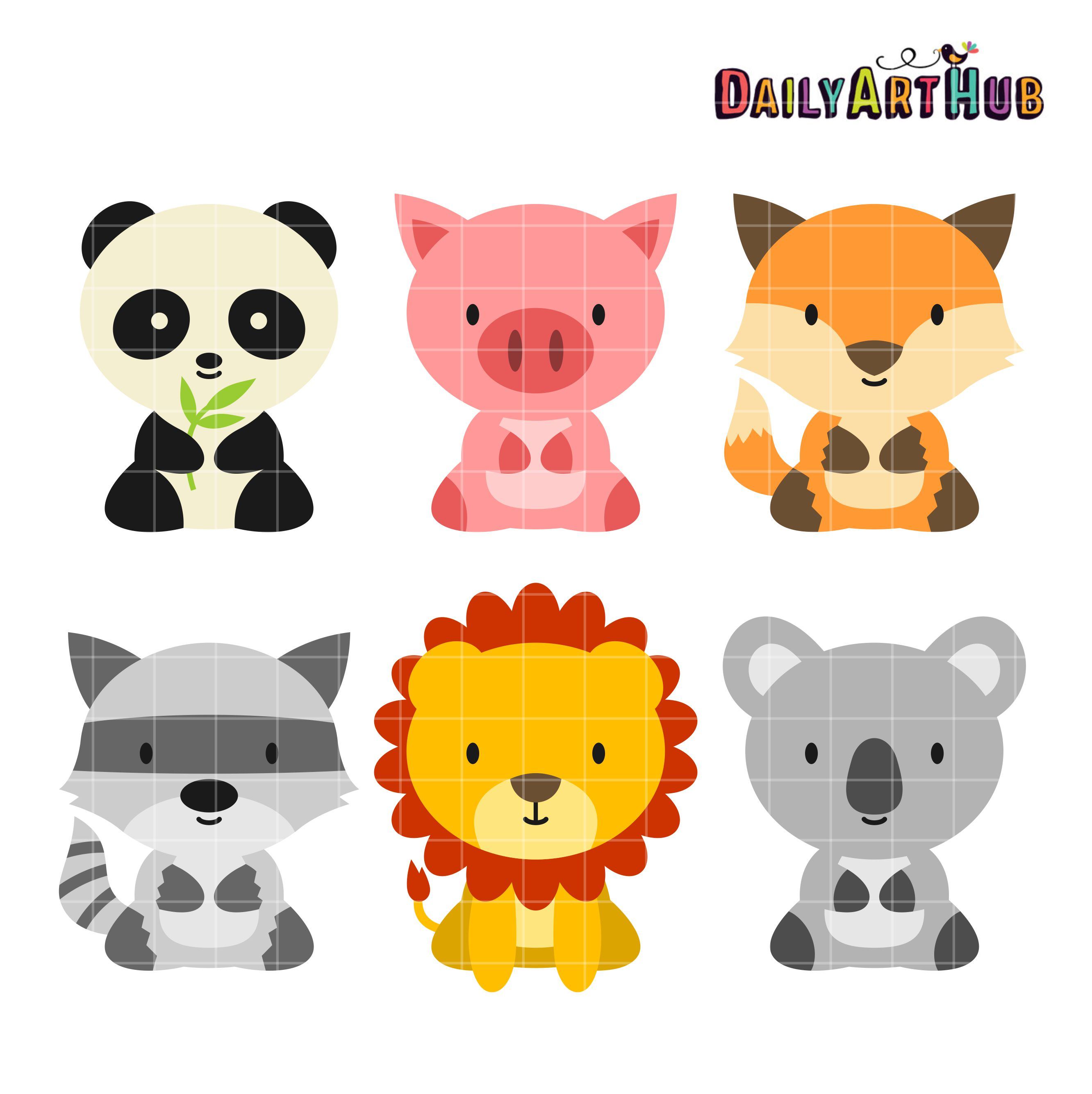 Baby Animals Clip Art Set | Daily Art Hub