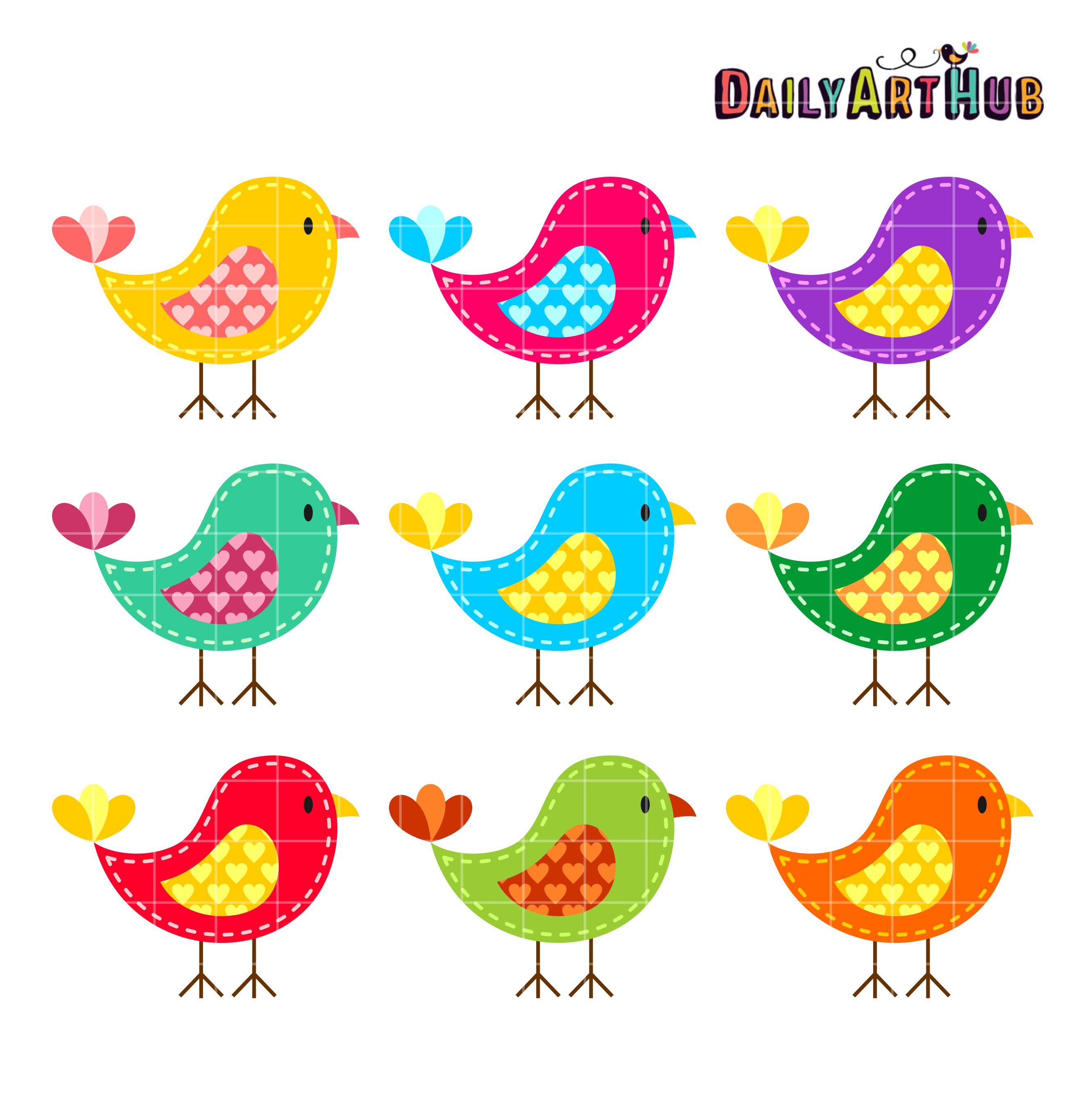 colorful birds clip art set daily art hub free clip art everyday rh dailyarthub com birds clipart images bird clipart silhouette