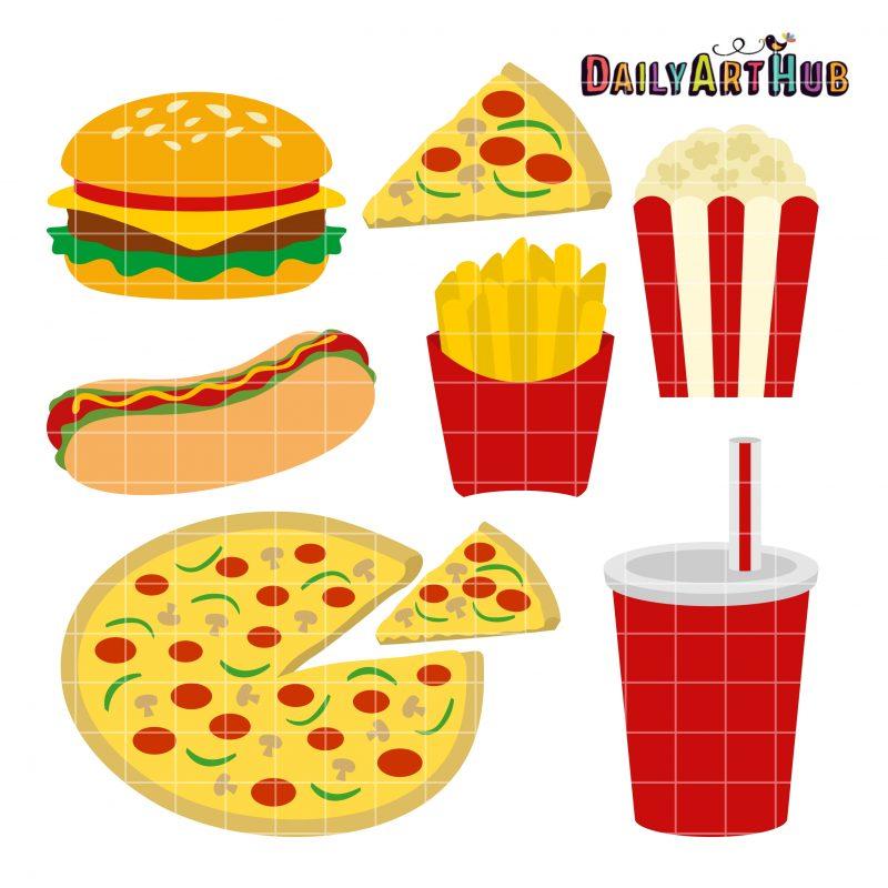 Fast Food Clip Art Set | Daily Art Hub