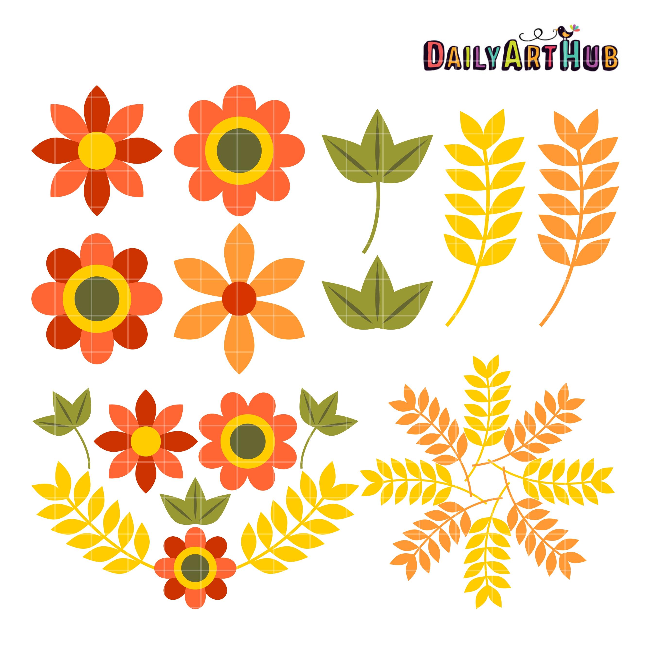 Autumn Flowers Clip Art – Clipart Free Download