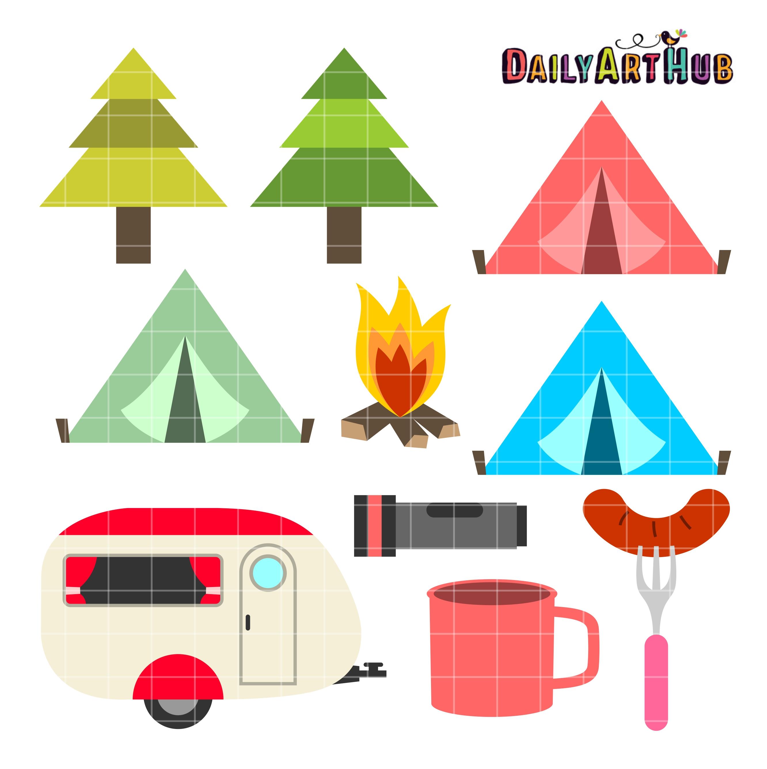 Camping Season Clip Art Set Daily Art Hub Free Clip Art Everyday