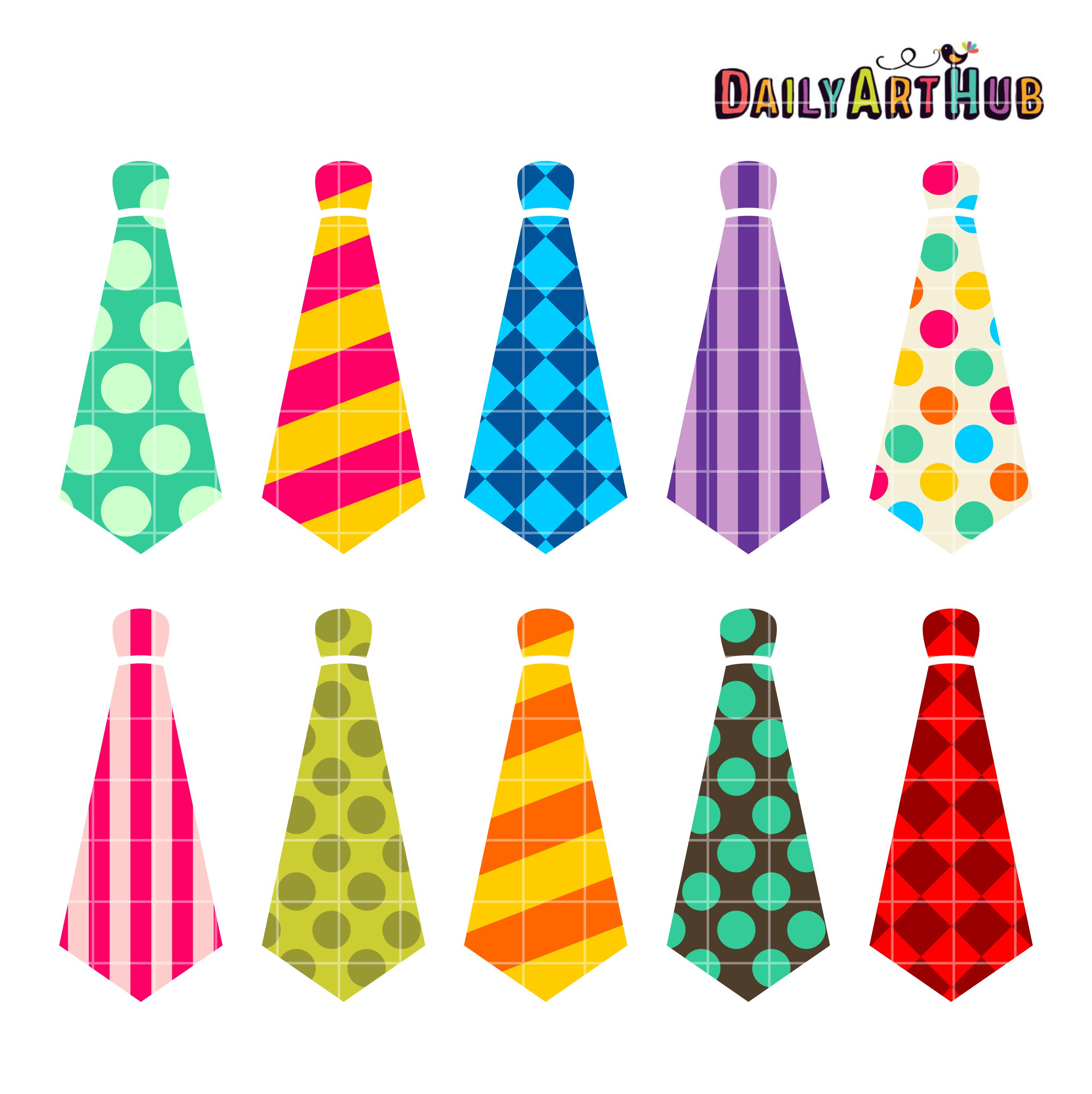 Neckties Clip Art Set | Daily Art Hub