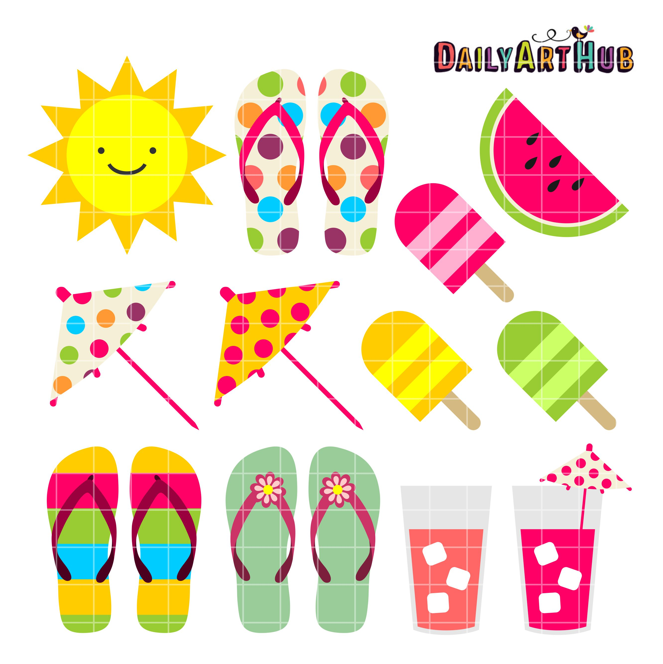 361717579 Summer Things Clip Art Set – Daily Art Hub – Free Clip Art Everyday
