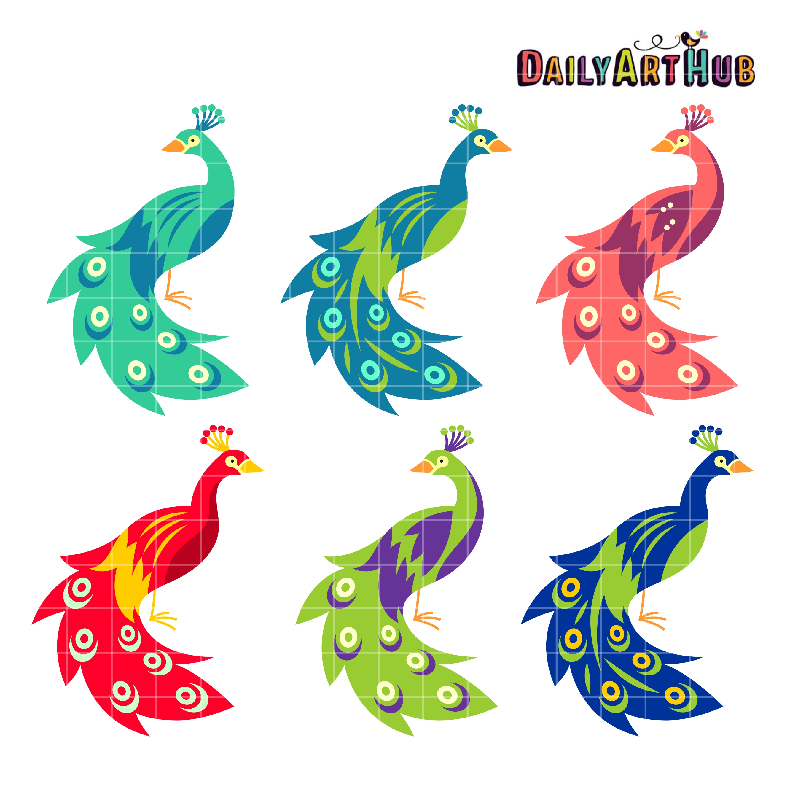 peacocks clip art set daily art hub free clip art everyday rh dailyarthub com peacock clipart free