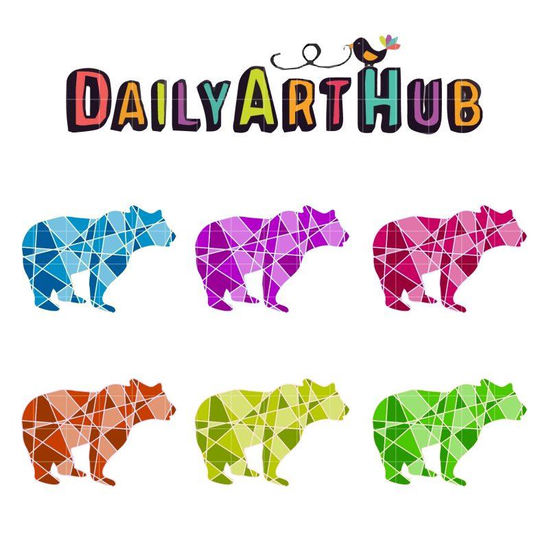 Bear Geometrical Line Art